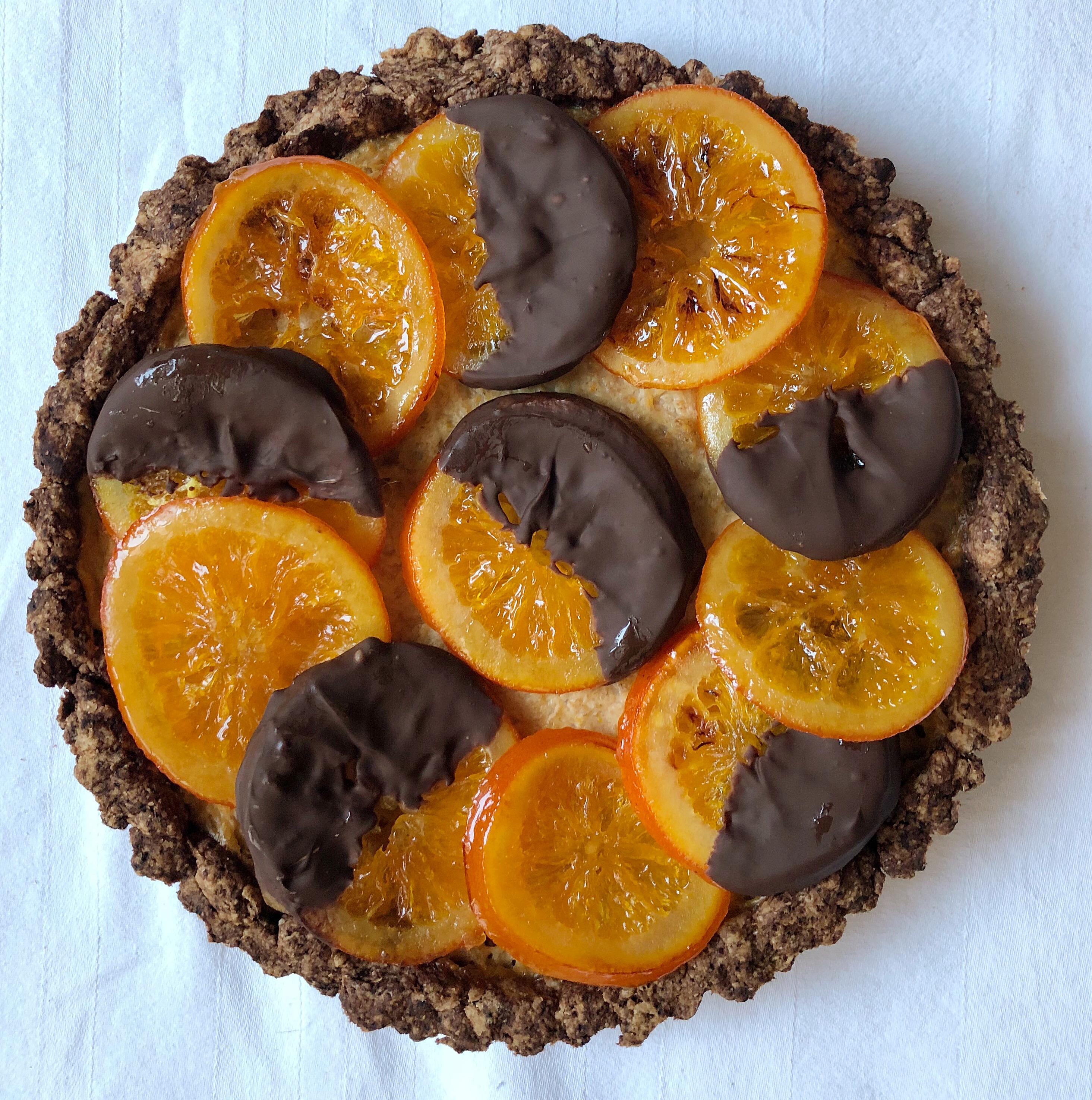La Crostata Arancia e Cioccolato Senza Burro sfiziosa e golosa di dolci senza burro