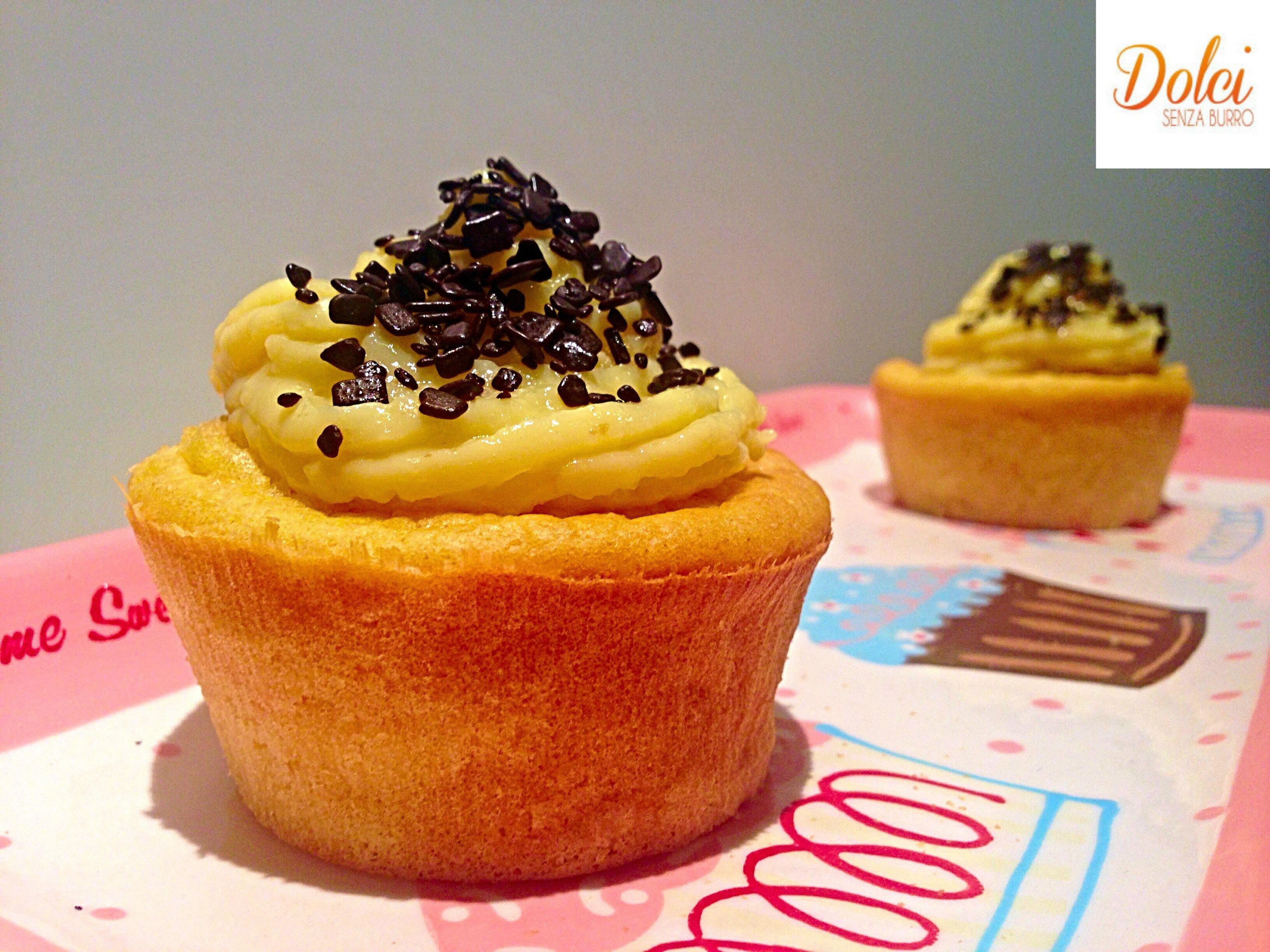 Cupcake Senza Burro alla Carota e Vaniglia, il cupcake light di dolci senza burro
