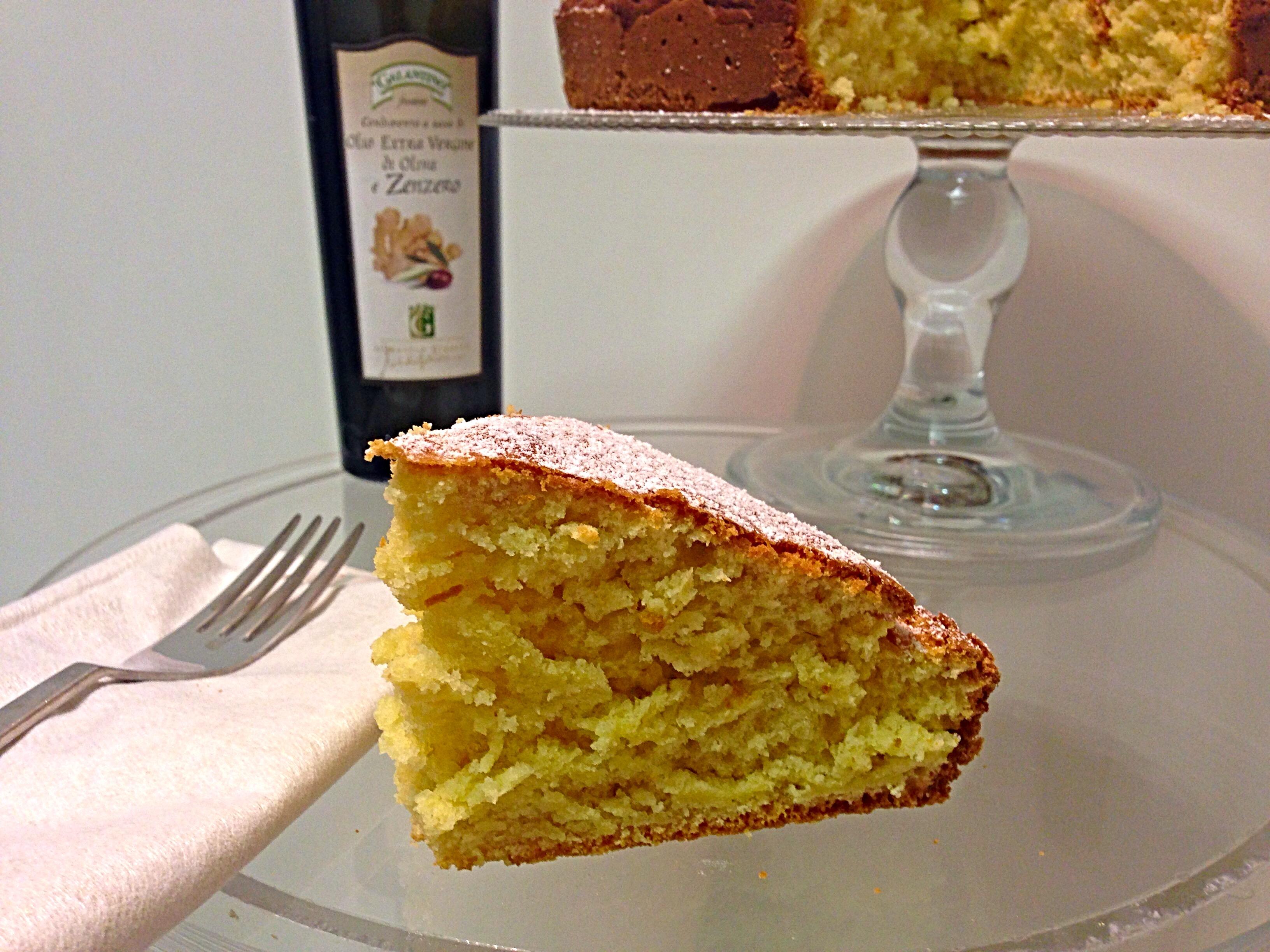 Torta soffice al limone senza burro, il dolce all'olio goloso e leggero profumato allo zenzero di dolci senza burro