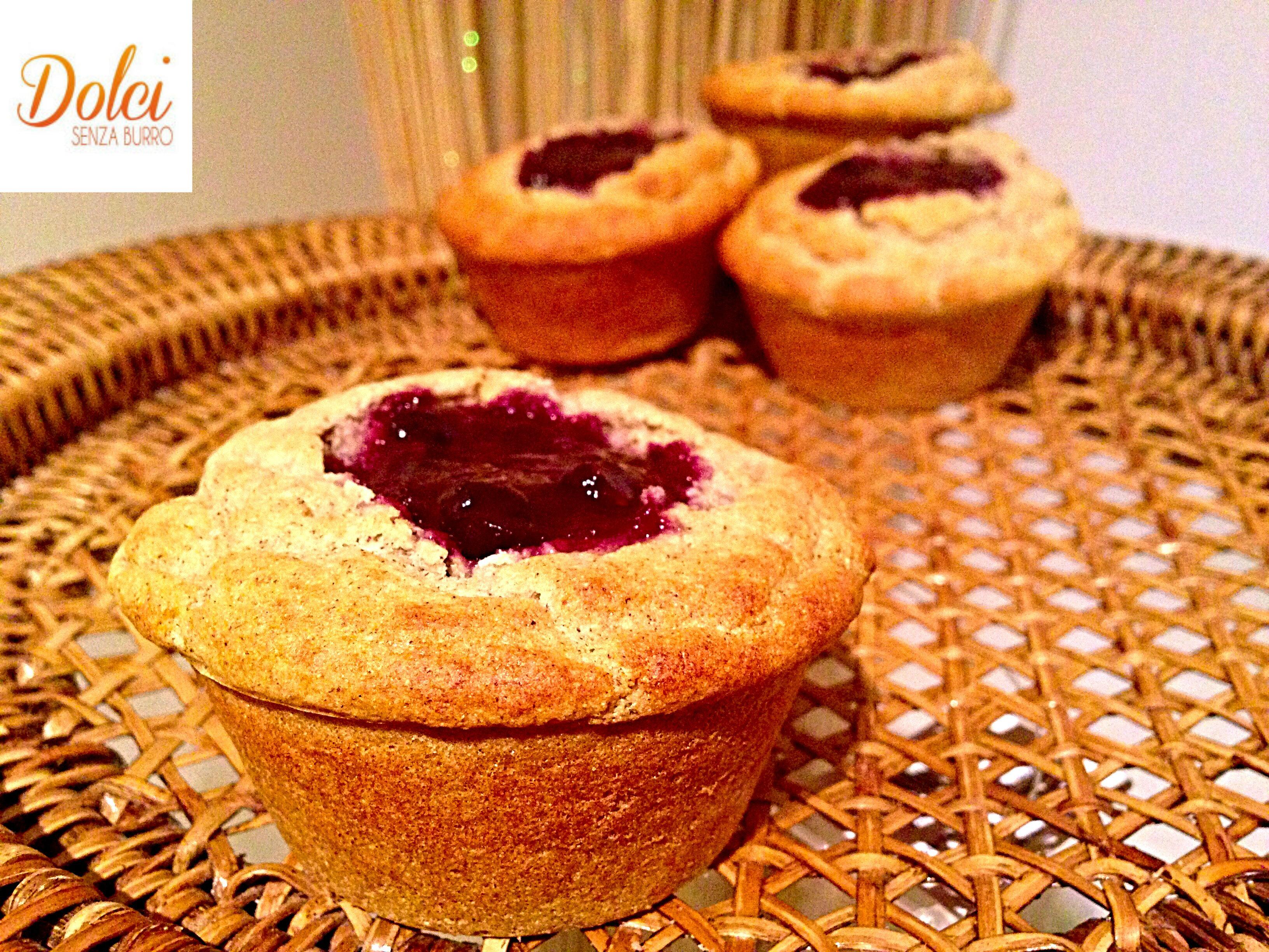 Muffin Grano Saraceno e Marmellata Senza Burro, il dolce light sano e goloso di dolci senza burro