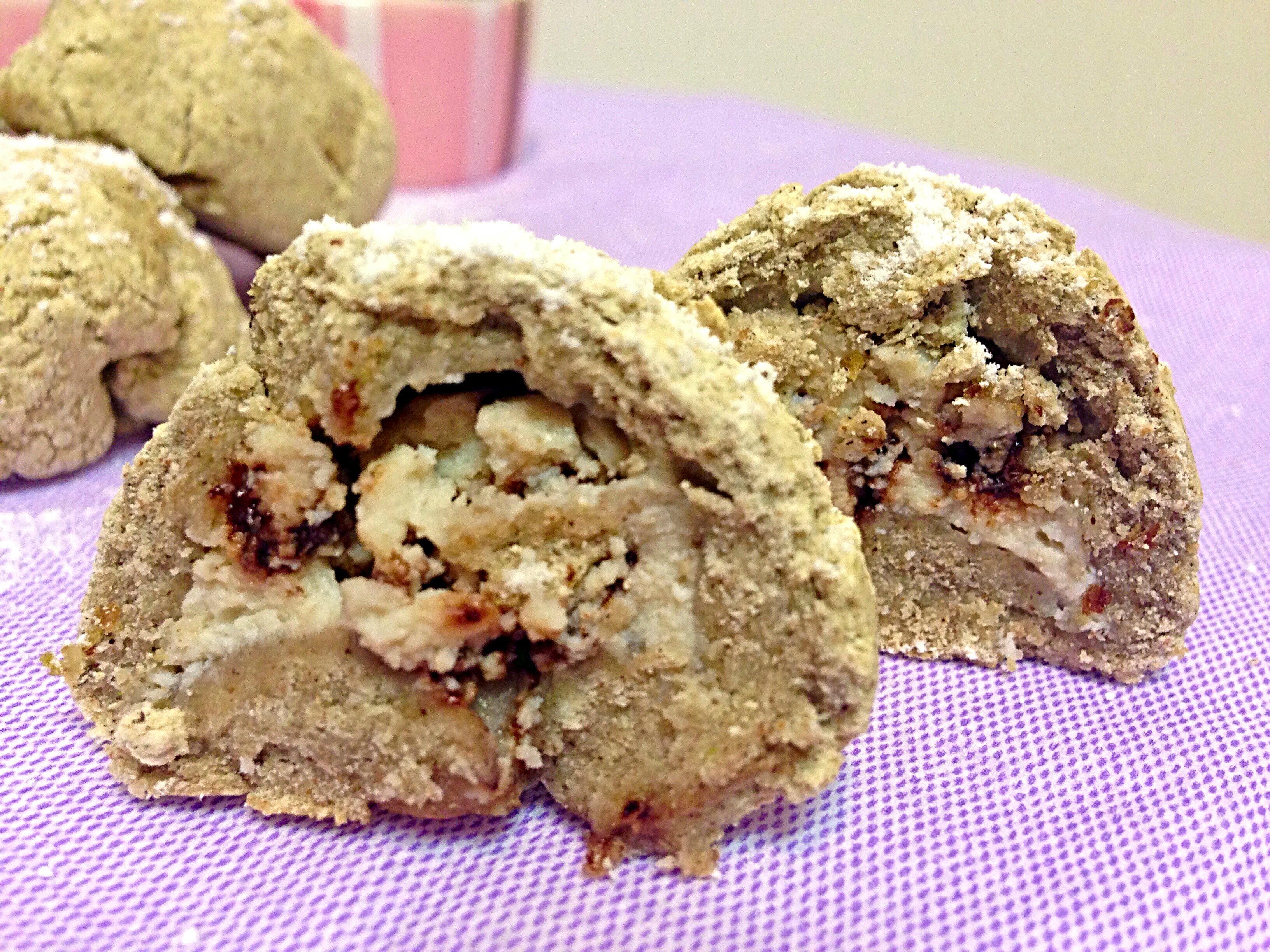 I Biscotti al Kamut e Ricotta Senza Burro realizzati con frolla all'olio di dolci senza burro