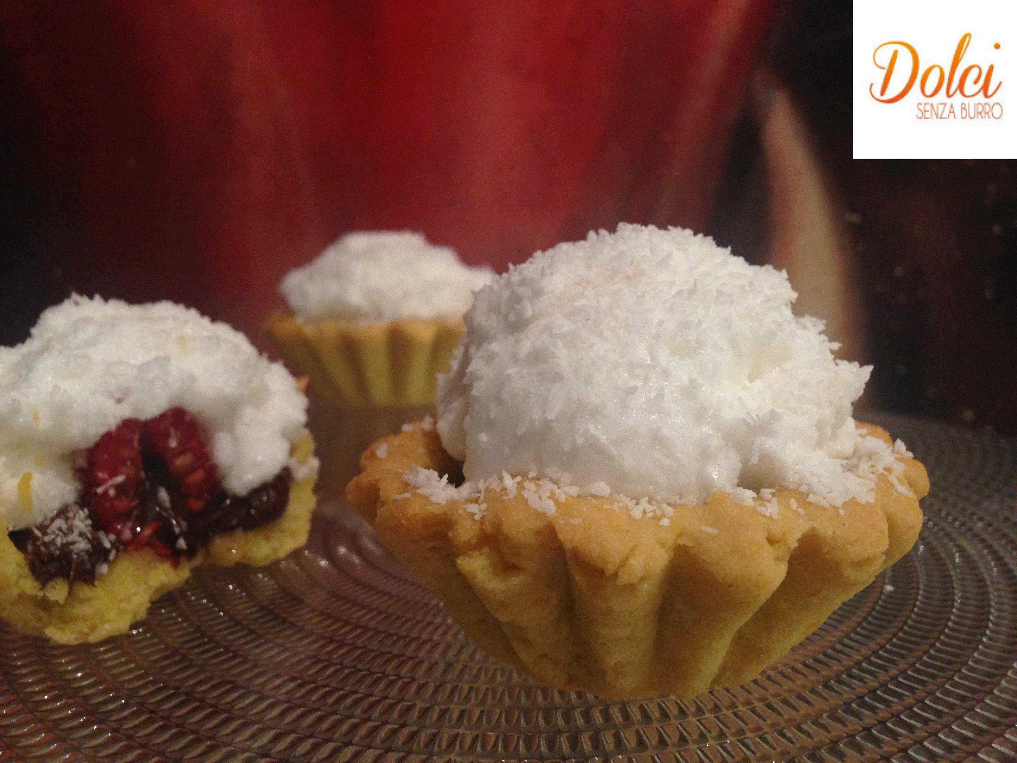 Tartellette ai Lamponi e Cioccolato Senza Burro, realizzate con aceto balsamico da dolci senza burro