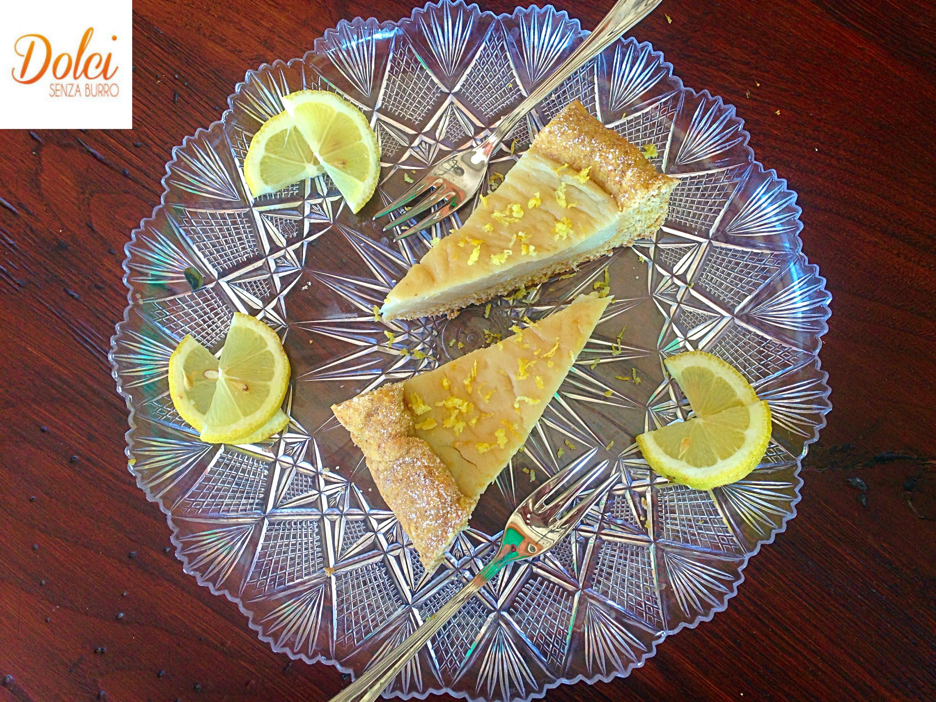 Crostata al Limone Vegana, la crostata senza burro e uova di dolci senza burro