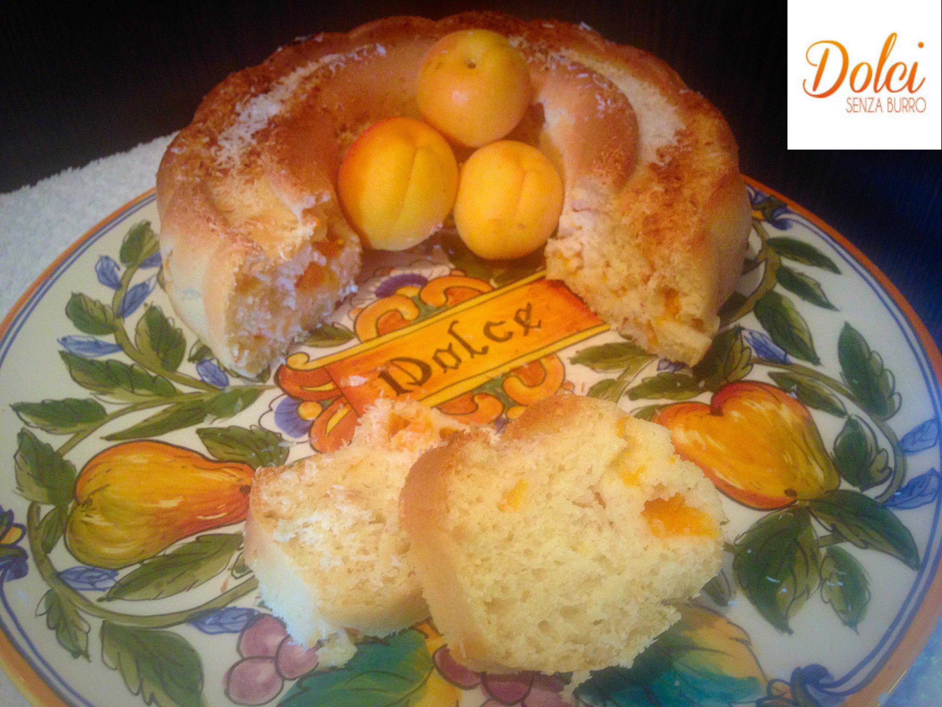 Torta di Albicocche Light al Cocco Senza Burro, il dolce senza lattosio goloso e leggero di dolci senza burro