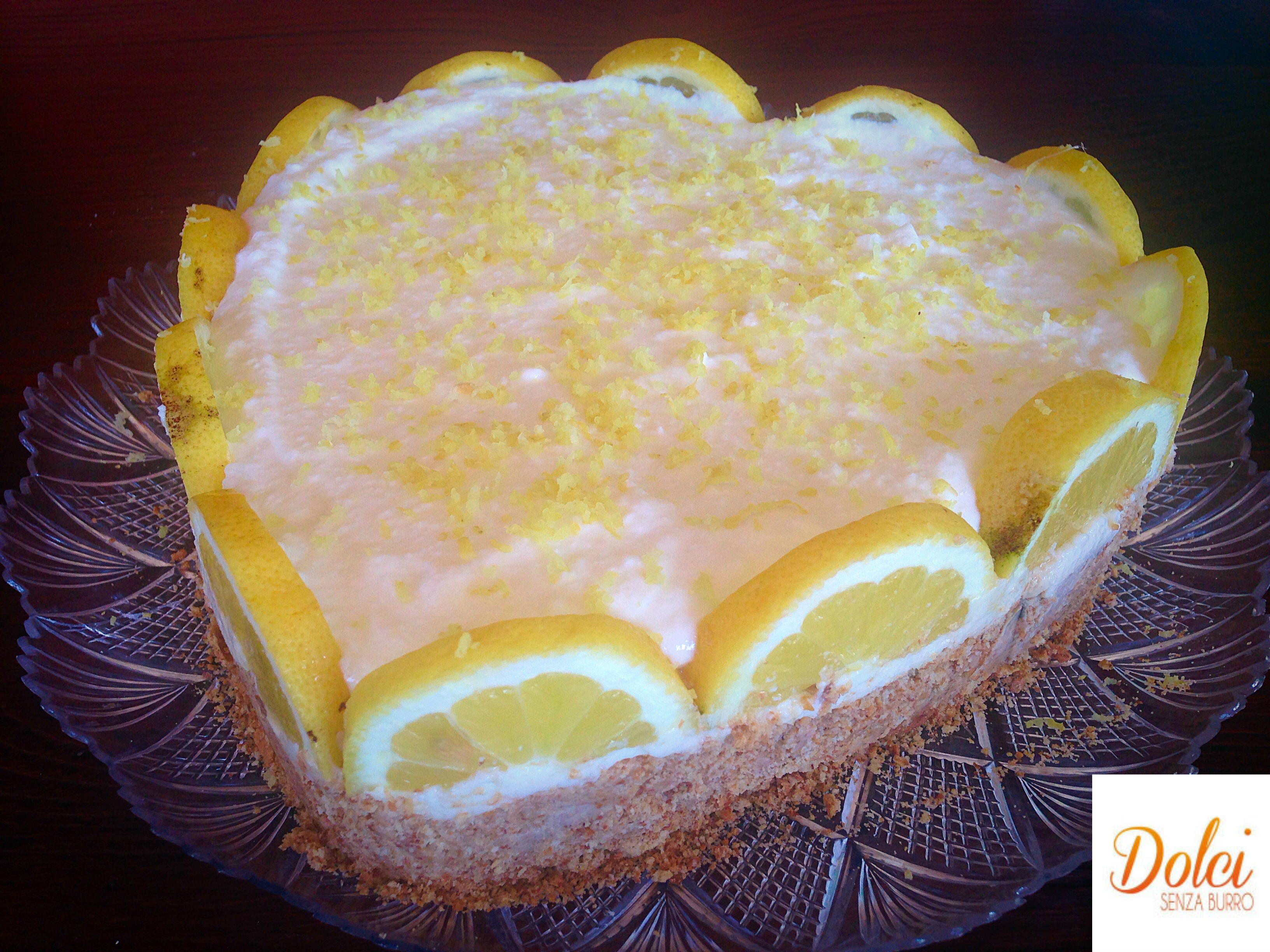 Torta Fredda al Limone Senza Burro, il dolce fresco e goloso di dolci senza burro