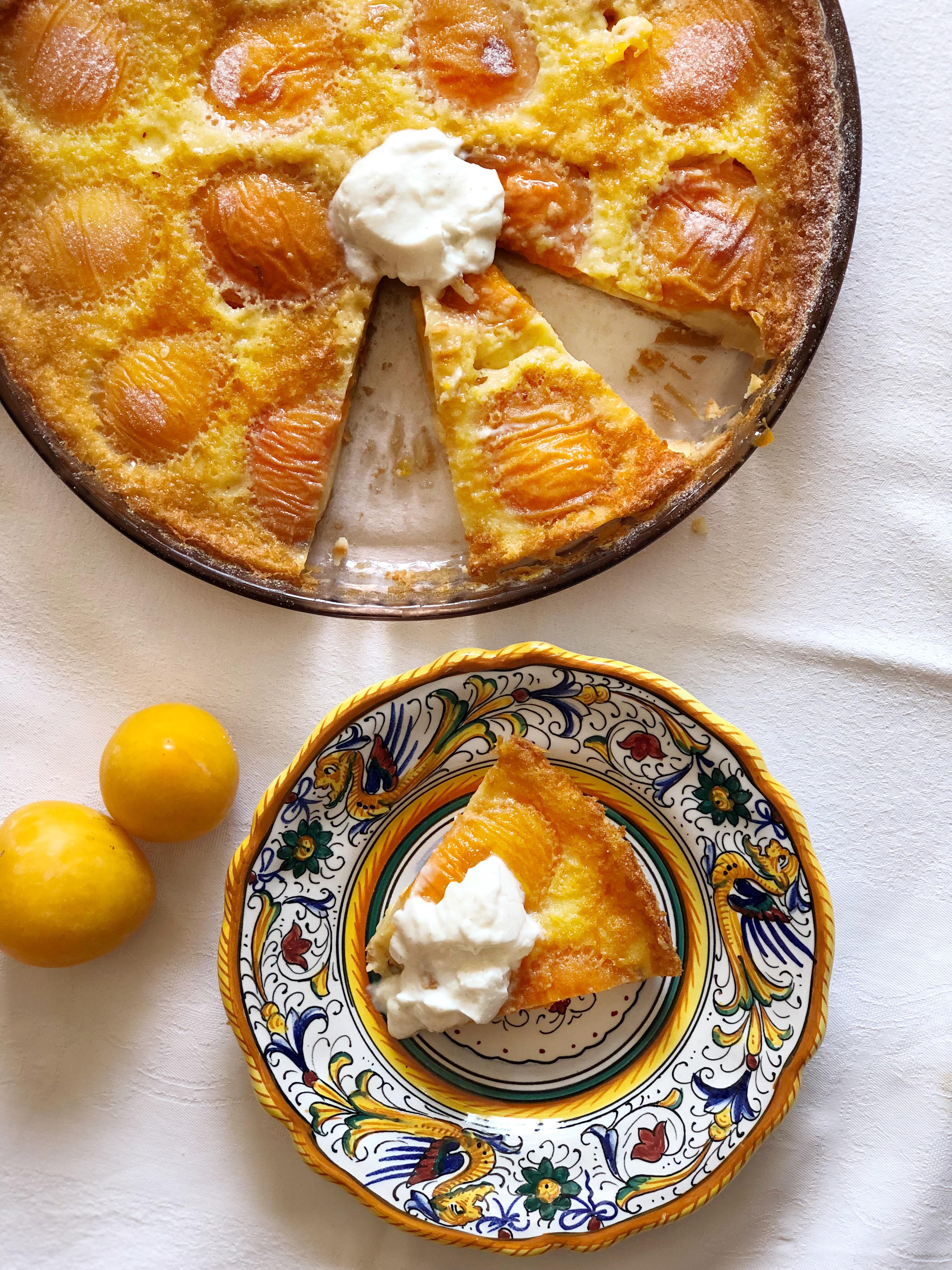 Clafoutis alle Albicocche Senza Burro, tanta dolcezza e leggerezza!