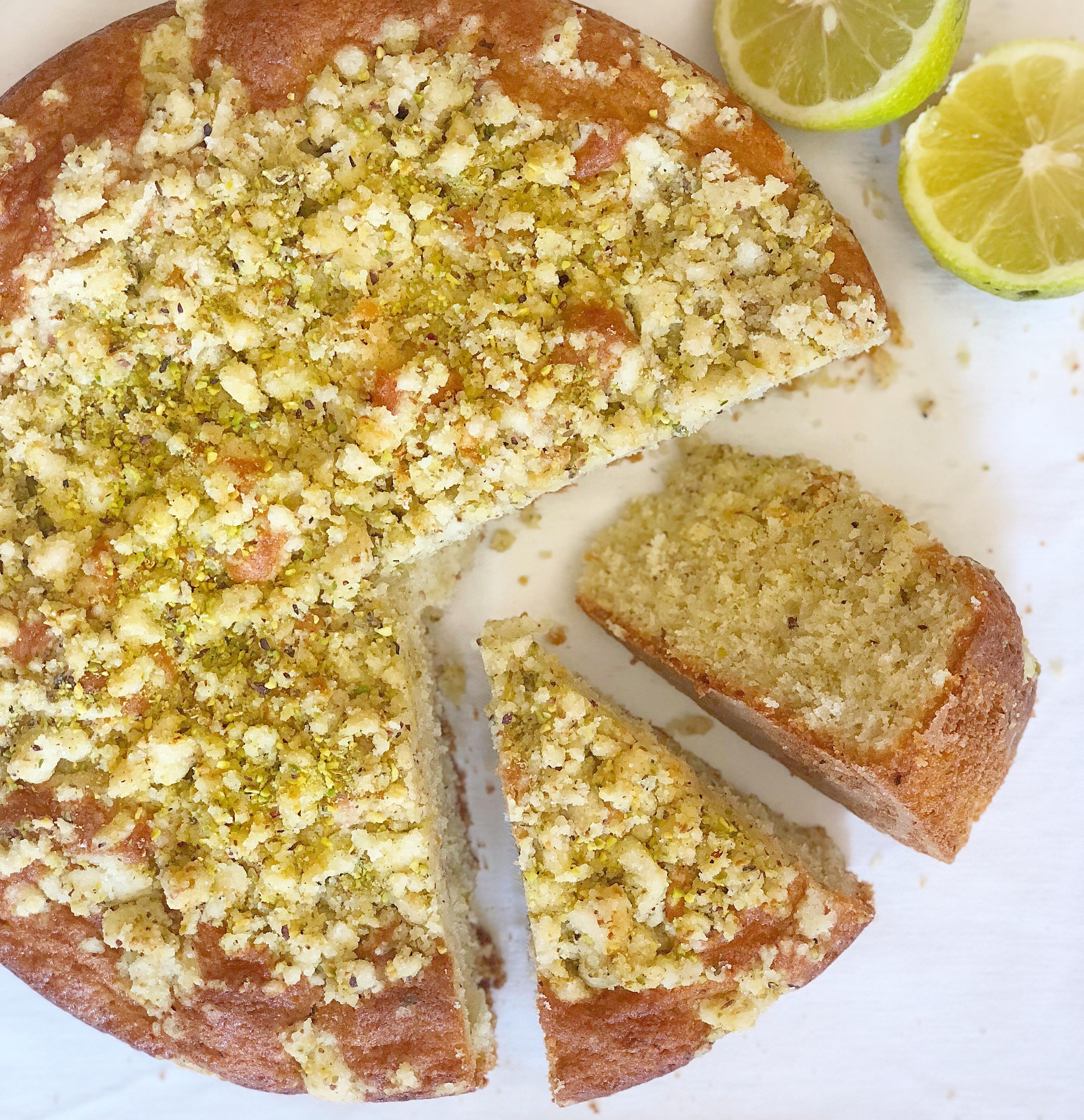 Torta al Pistacchio e Limone Senza Burro è un dolce semplice ma sfizioso di dolci senza burro