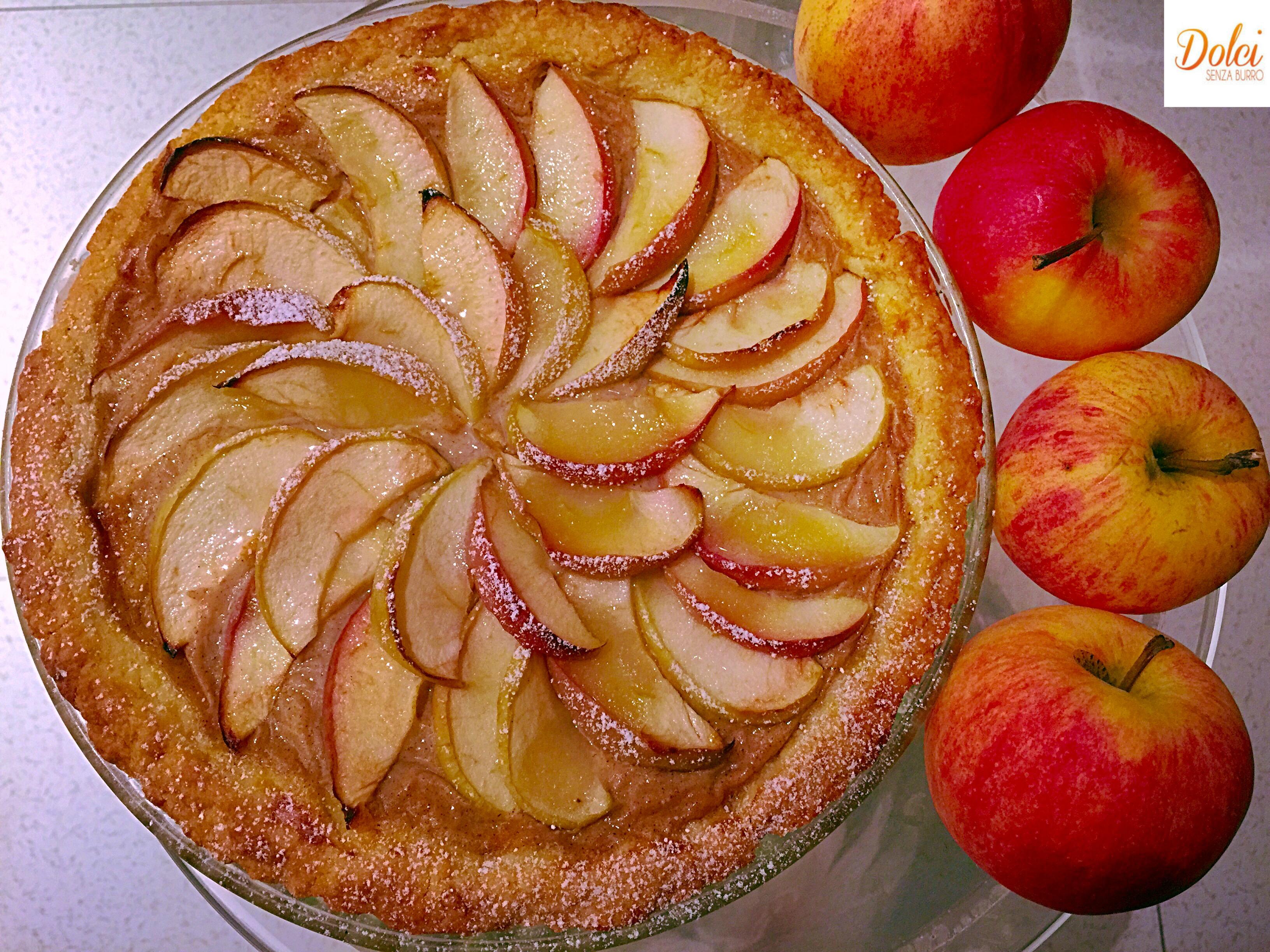 Crostata di mele senza burro dolci senza burro for Crostata di mele