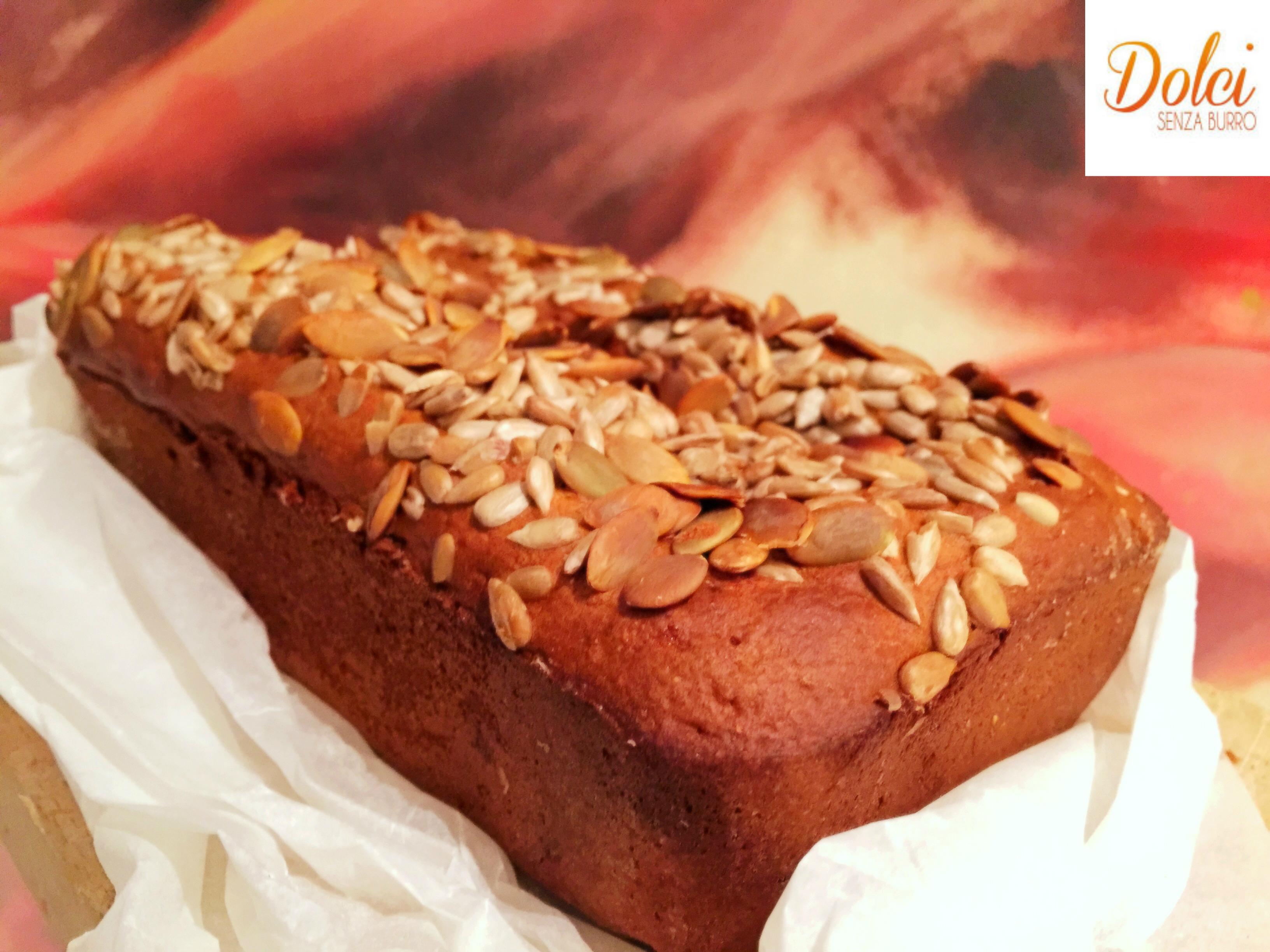 Torta con Semi di Girasole e Zucca Senza Burro, un dolce gustoso sano e genuino di dolci senza burro