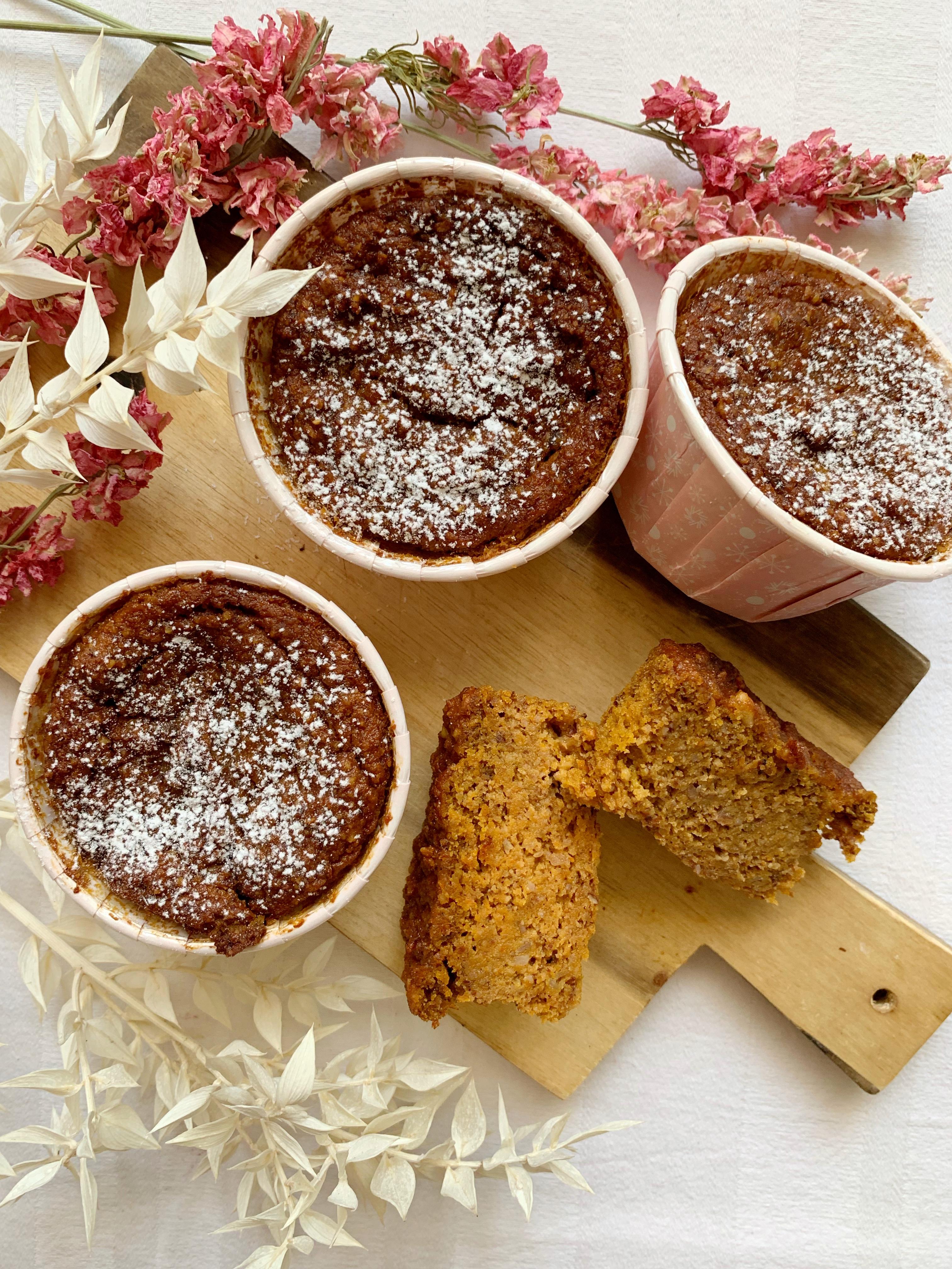Muffin alle Carote Senza Glutine Burro e Uova