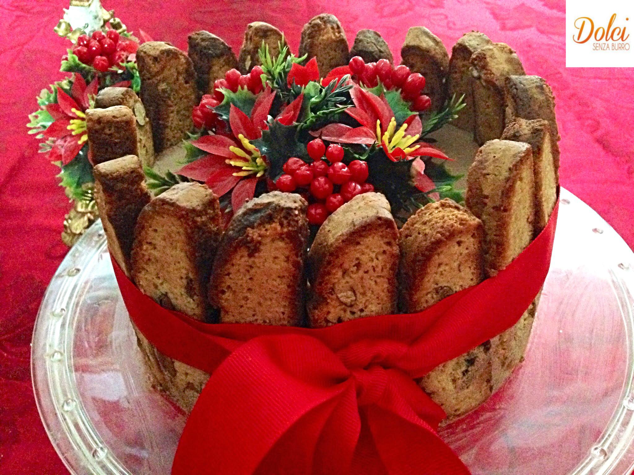 Charlotte Dolce Cantucci e Malvasia, il dolce di natale goloso di dolci senza burro