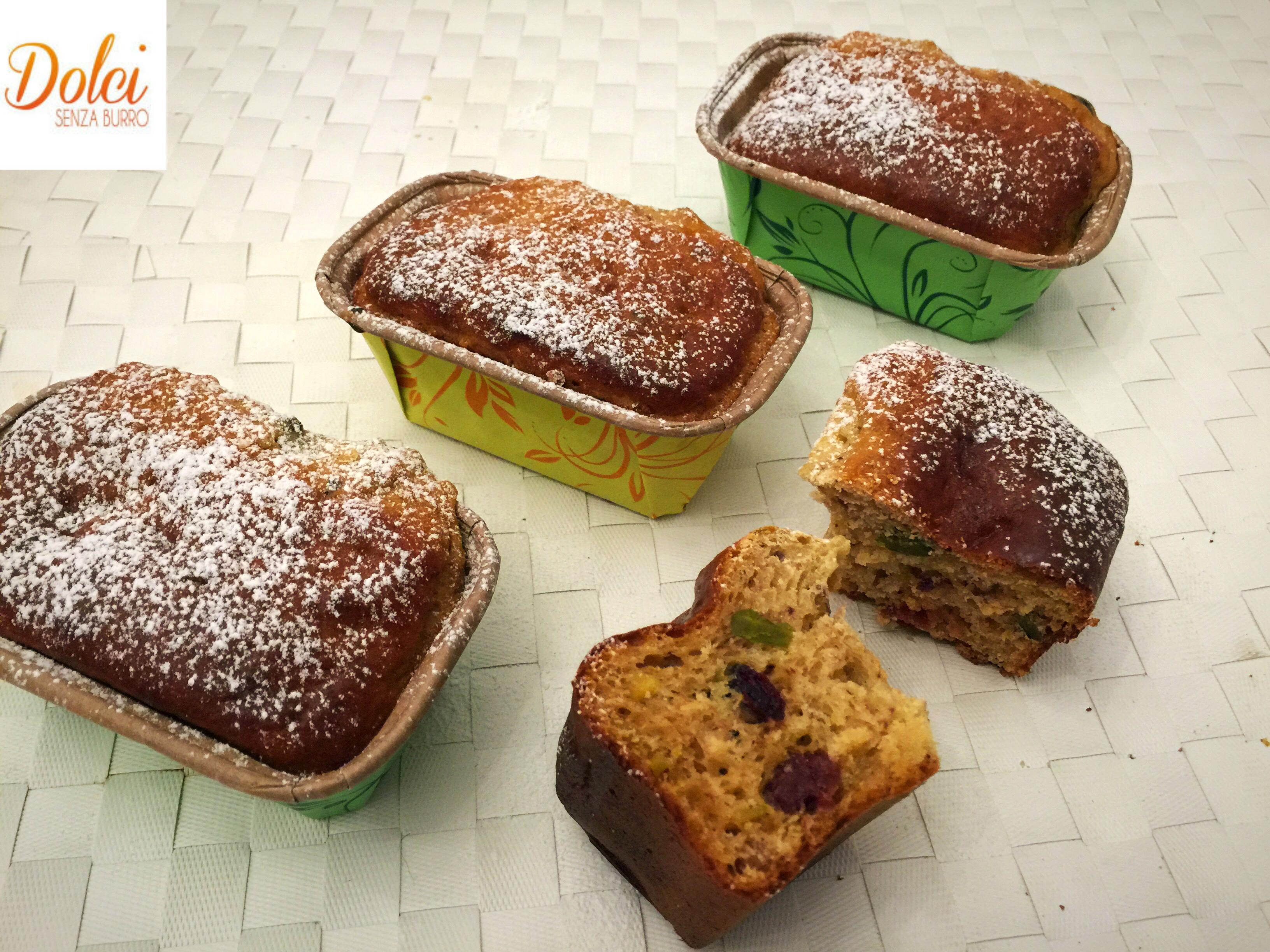 Mini Plumcake Senza Burro, il dolce sano e genuino di dolci senza burro