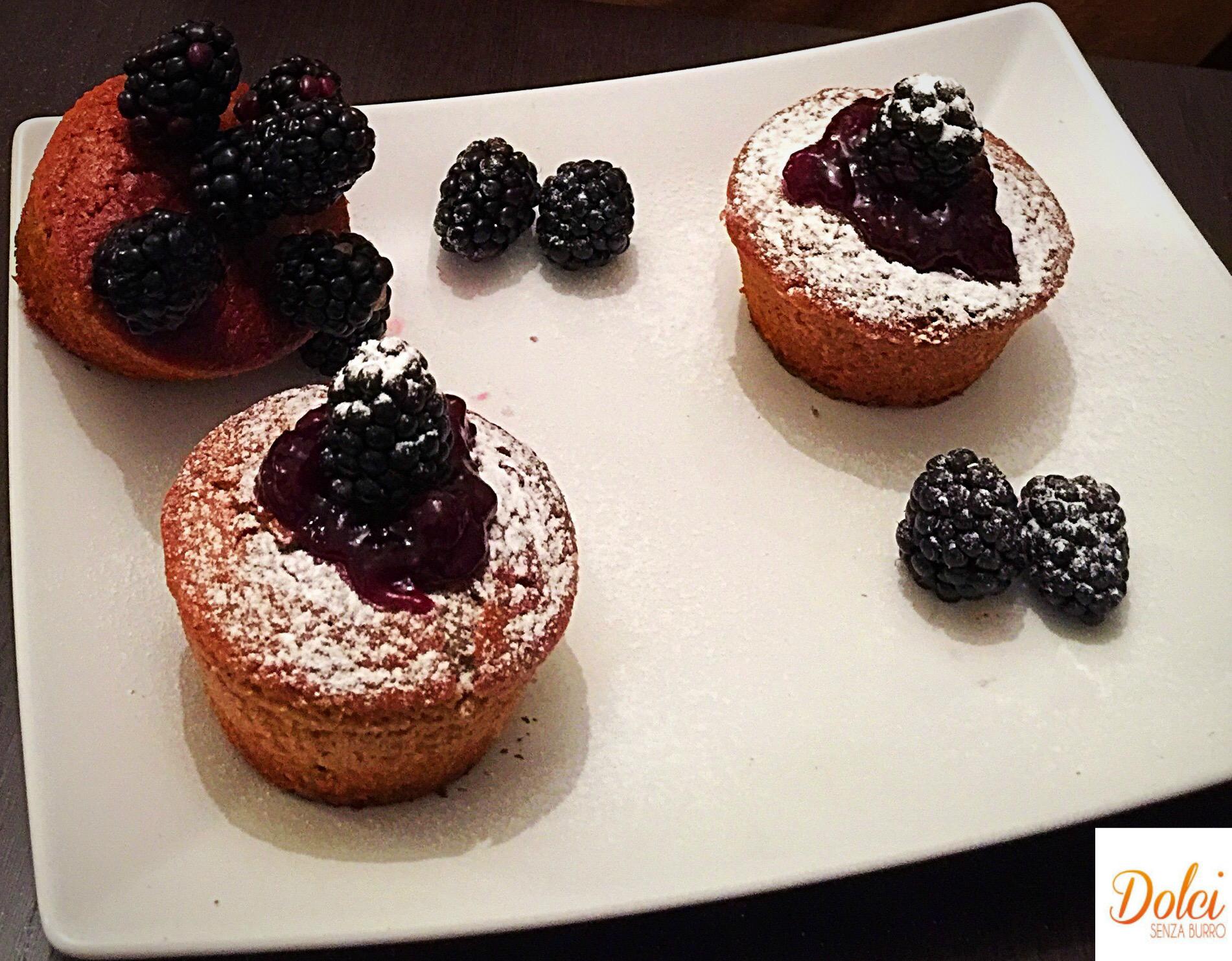 Muffin alle More Senza Burro, un impasto goloso alla marmellata di dolci senza burro