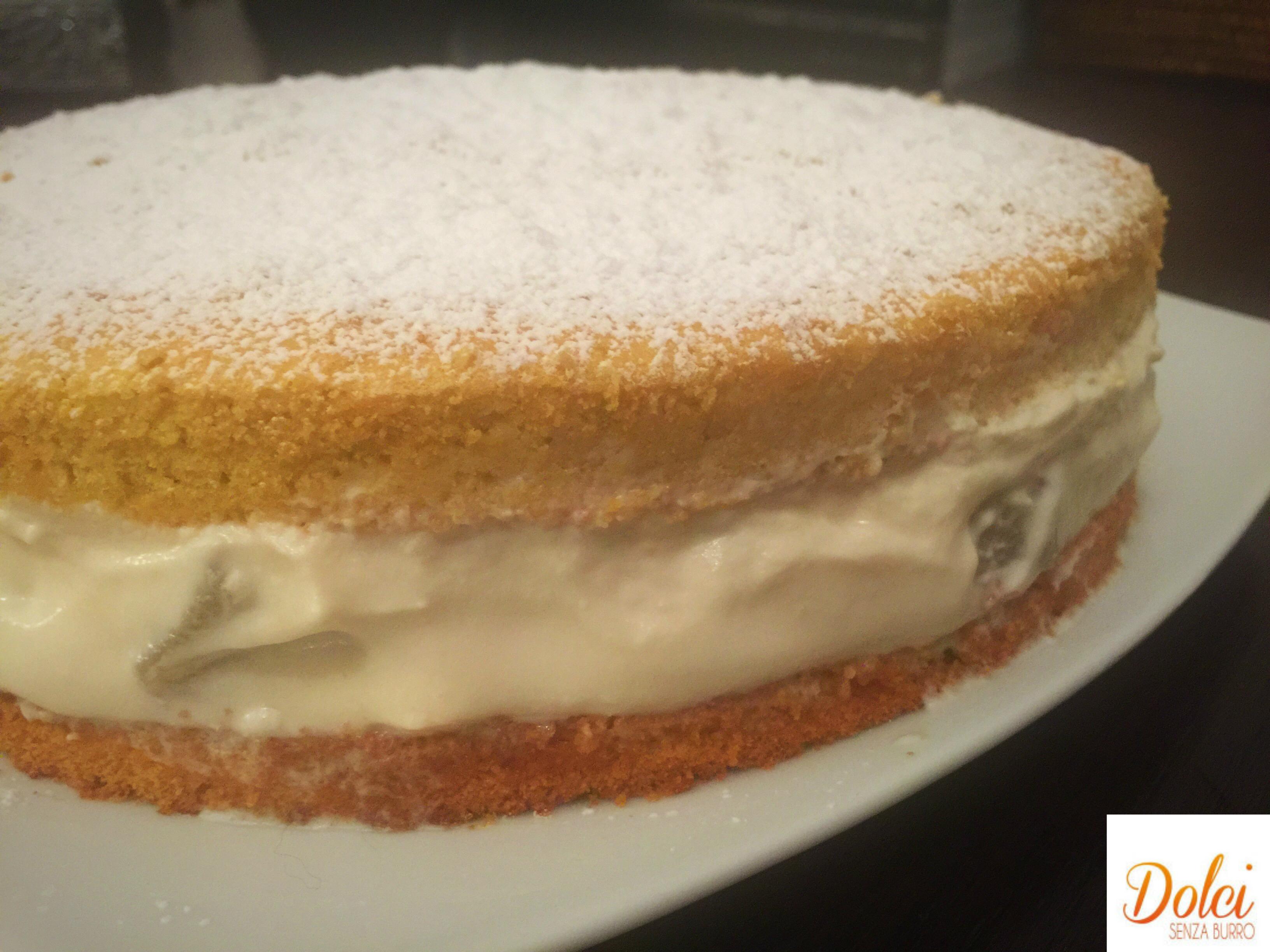 Torta Ricotta e Pere Senza Burro, un dolce fresco delicato e goloso di dolci senza burro