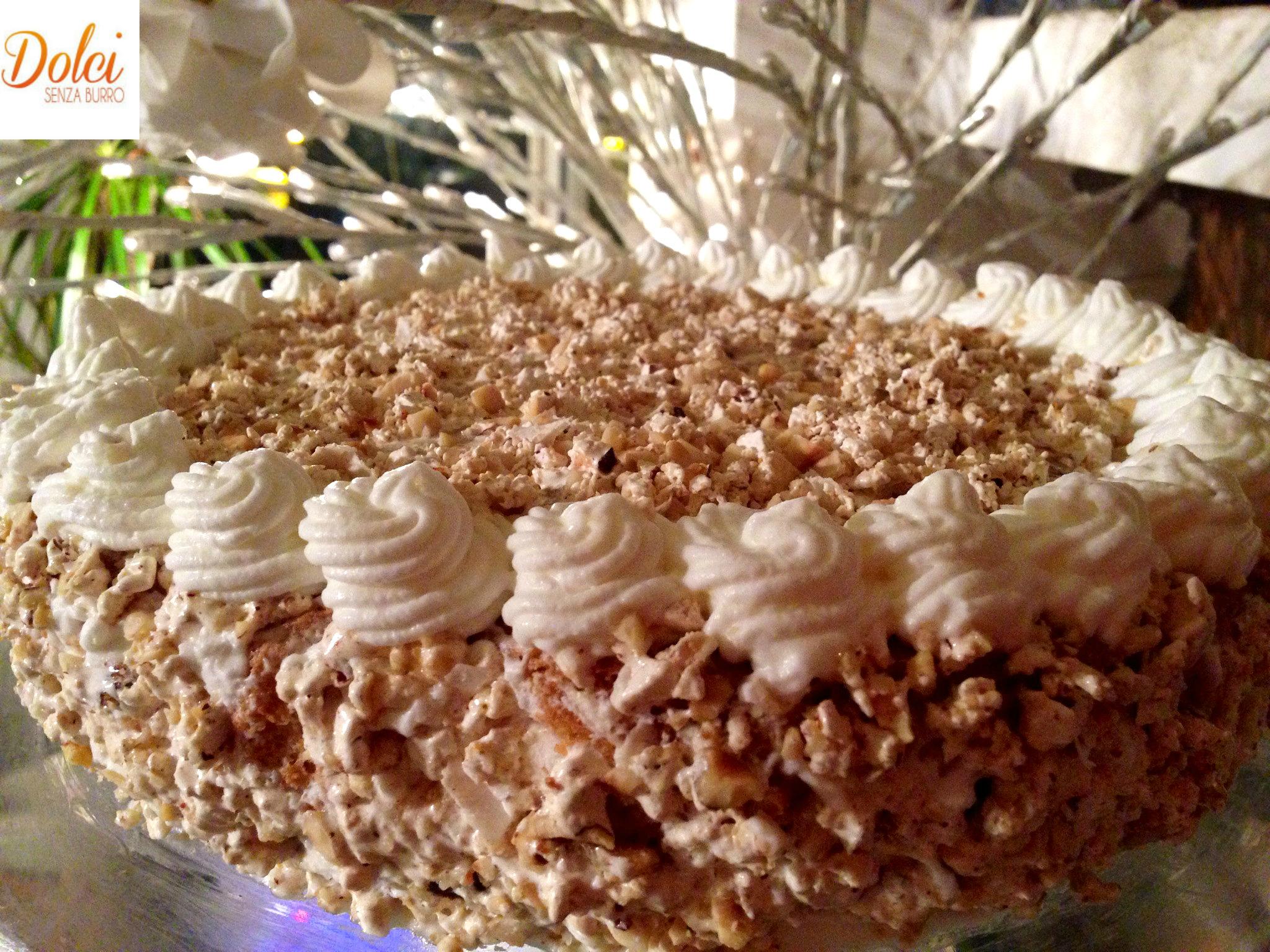 Torta al Torrone Senza Burro, il dolce del riciclo di dolci senza burro
