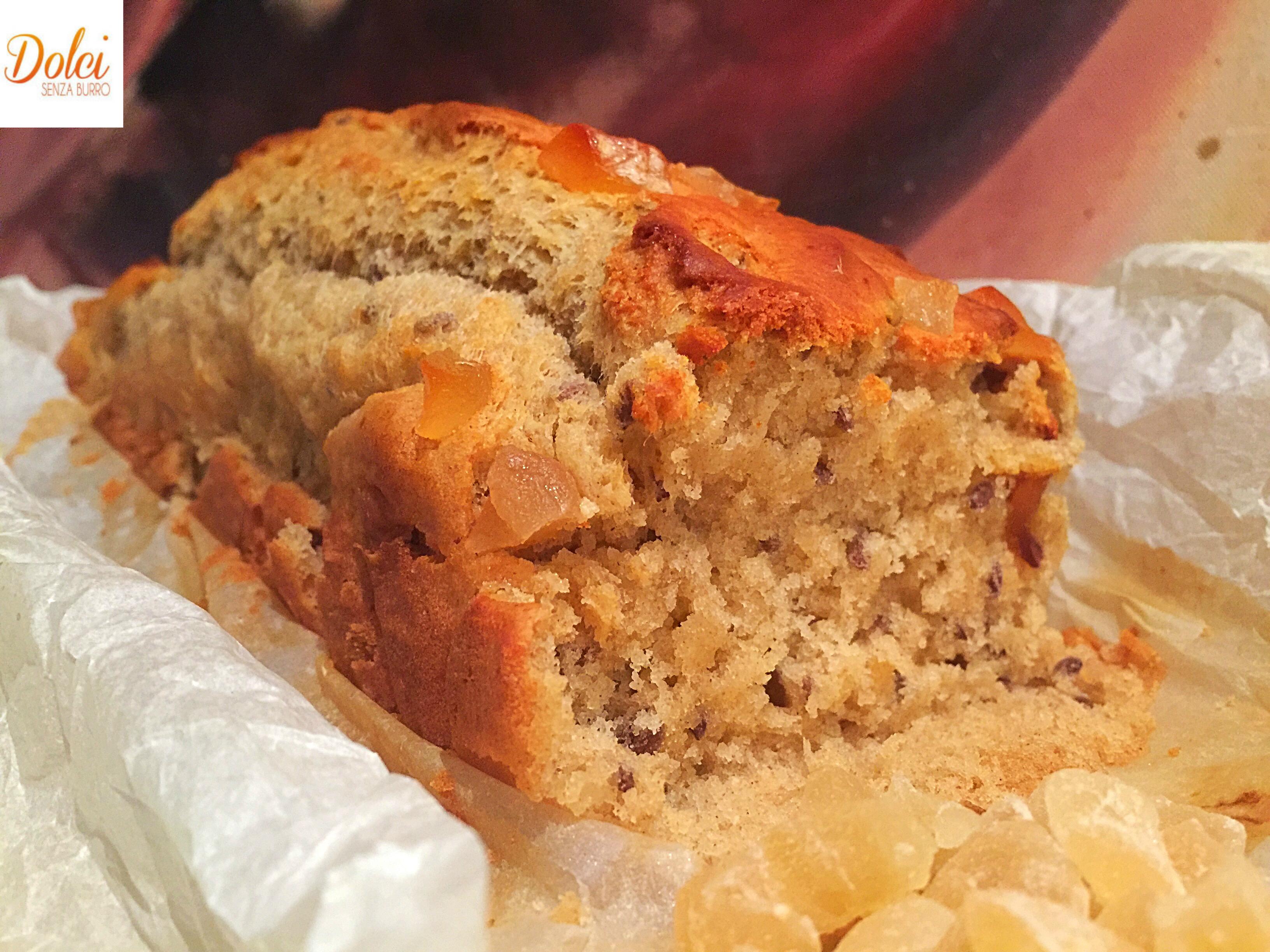 La Torta allo Zenzero Senza Burro e Uova, un dolce light molto goloso e delicato adatto a intolleranti, vegani di dolci senza burro