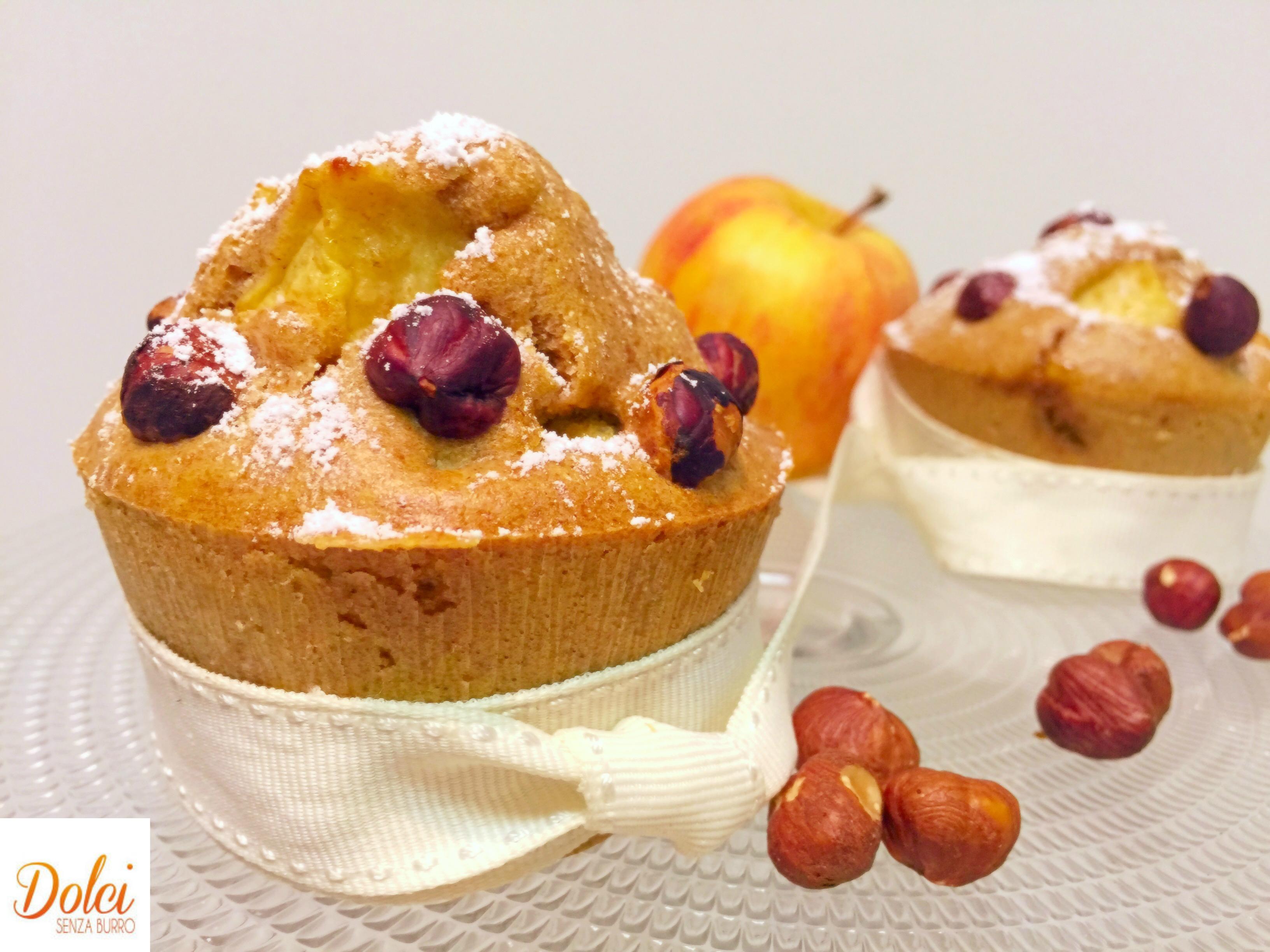 Muffin alle Mele e Nocciole Senza Burro, i muffin golosi e leggeri di dolci senza burro