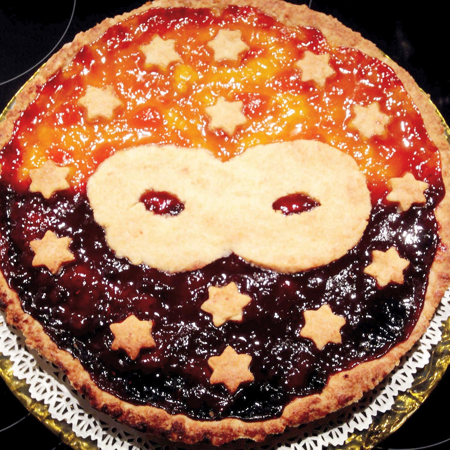 La Crostata di Carnevale Senza Burro allegra e colorata di dolci senza burro