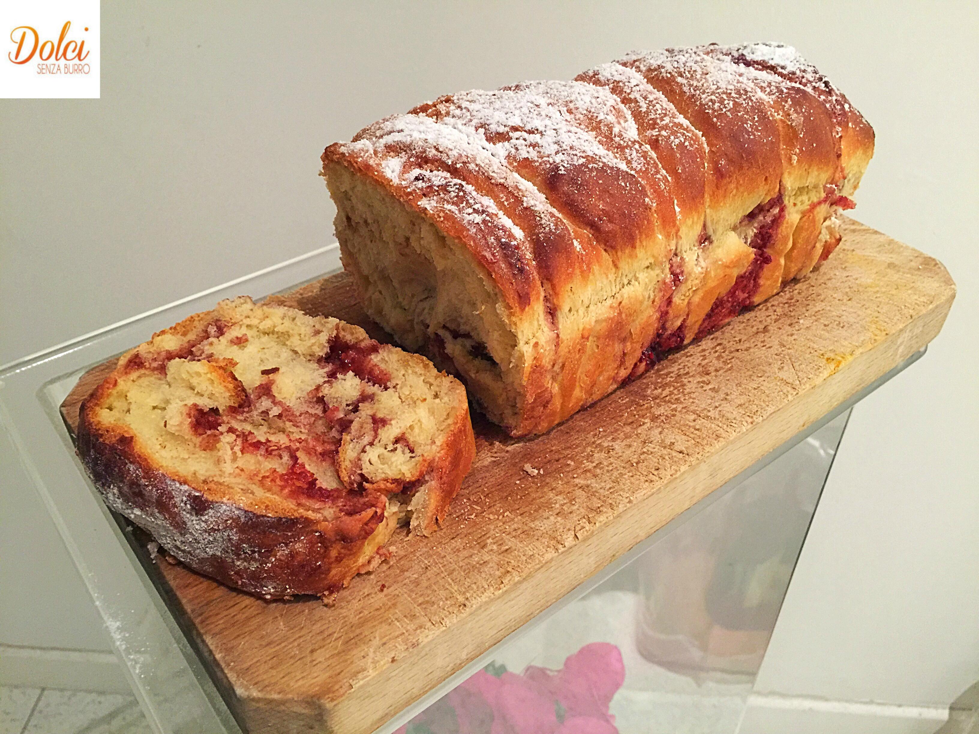 Pan Brioche alla Marmellata Senza Burro, soffice e goloso e per intolleranti al lattosio di dolci senza burro