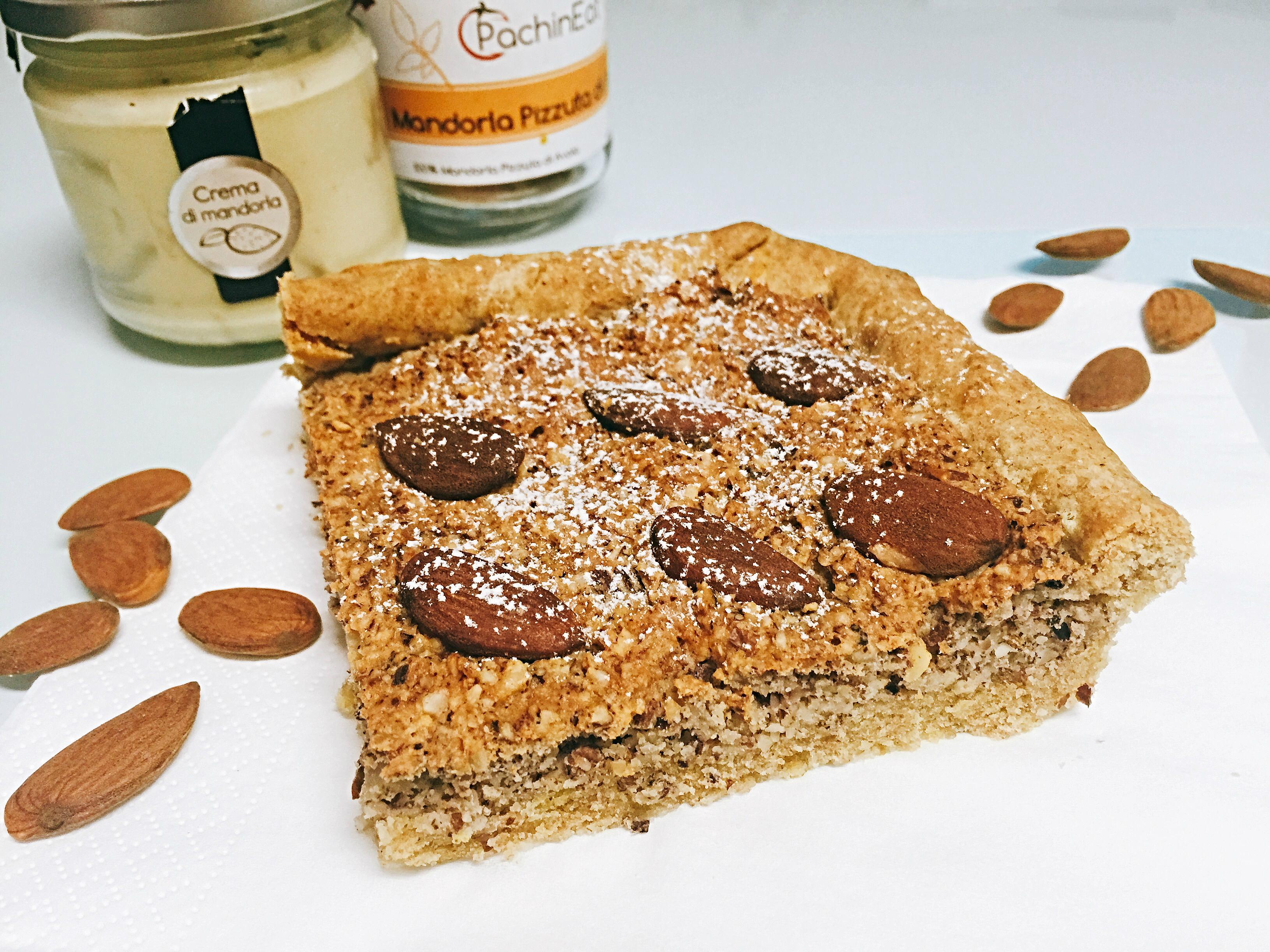 Crostata di Mandorle Senza Burro, un dolce goloso dal sapore rustico e delicato di dolci senza burro