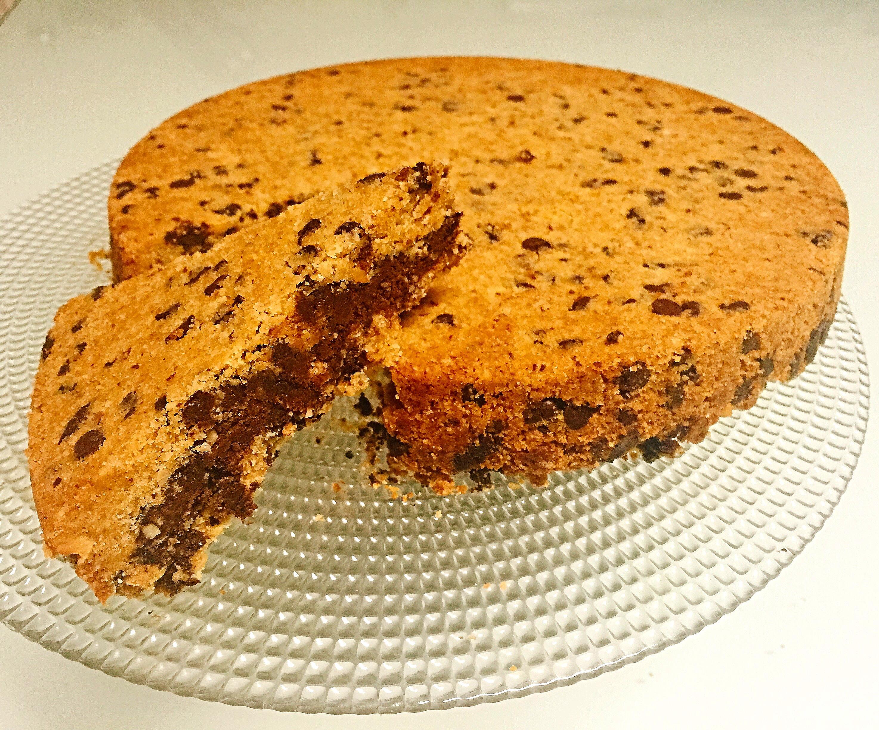 Torta Cookies Senza Burro, la versione torta del più famoso biscotto americano di dolci senza burro