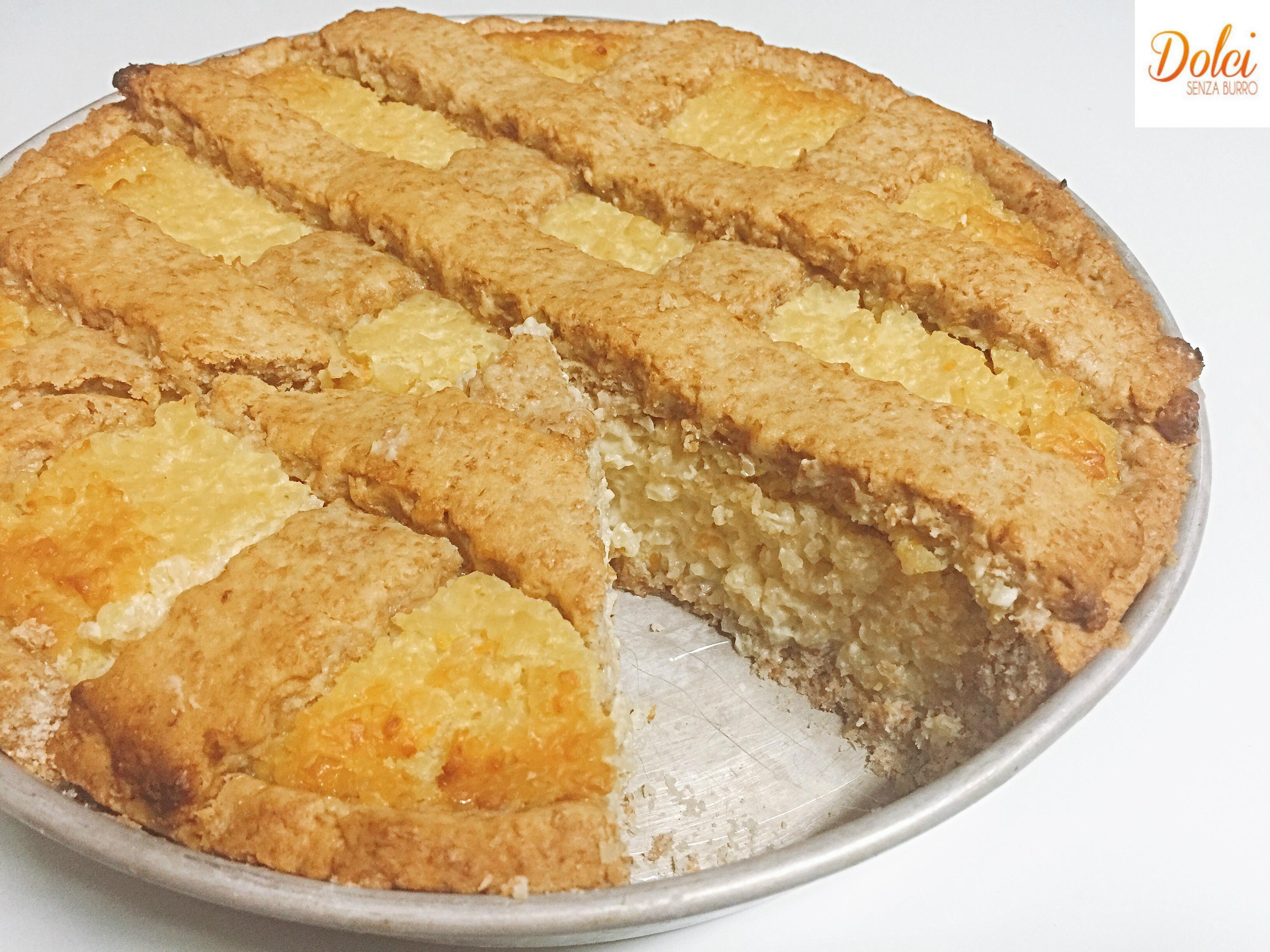Pastiera di Bulgur Senza Lattosio. il tradizionale dolce napoletano rivisitato da dolci senza burro