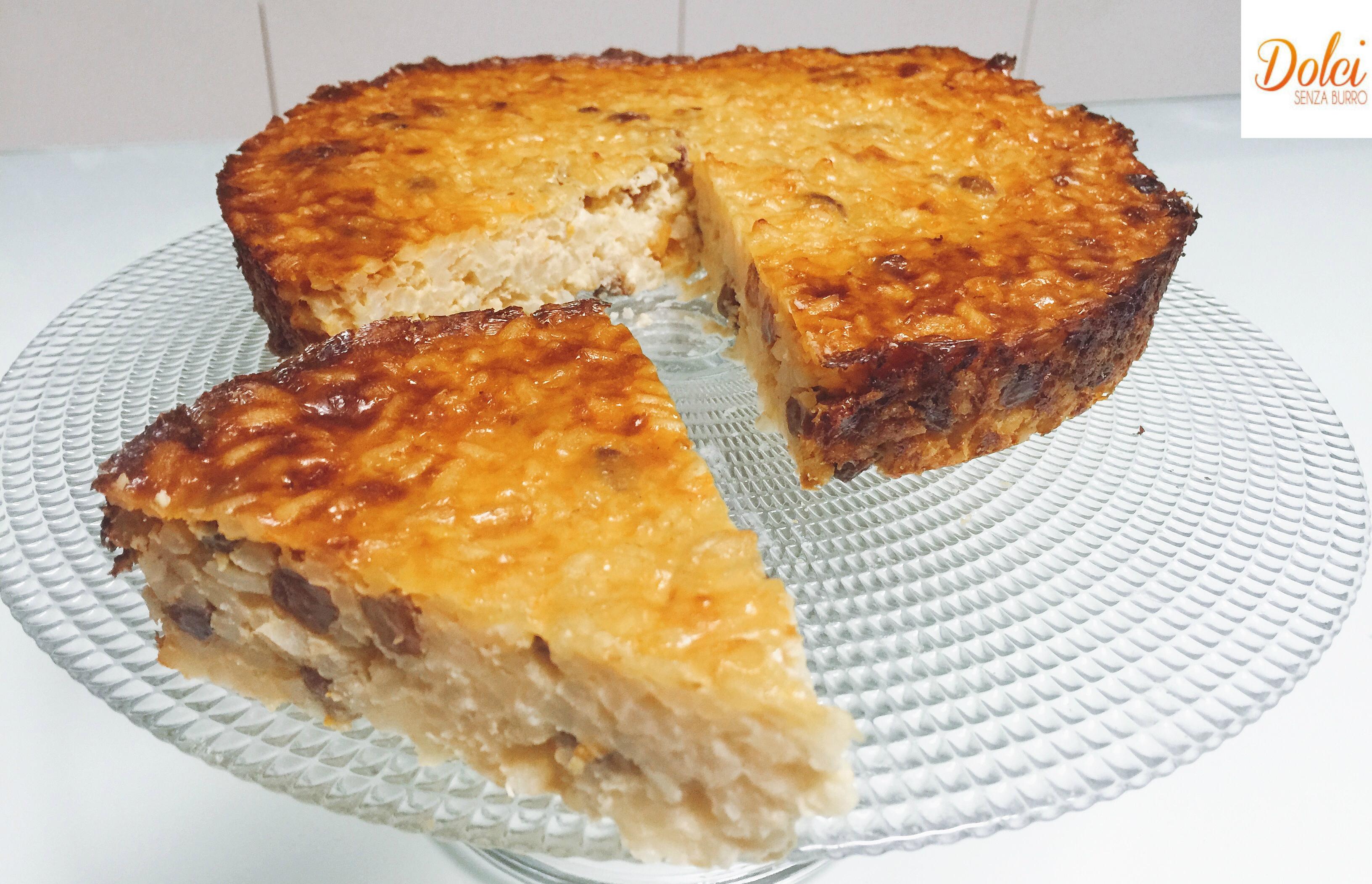 Torta di Riso Senza Uova e Burro, un dolce light adatto anche agli intolleranti di dolci senza burro