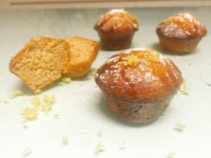Muffin al limone e miele senza burro,golosi e soffic