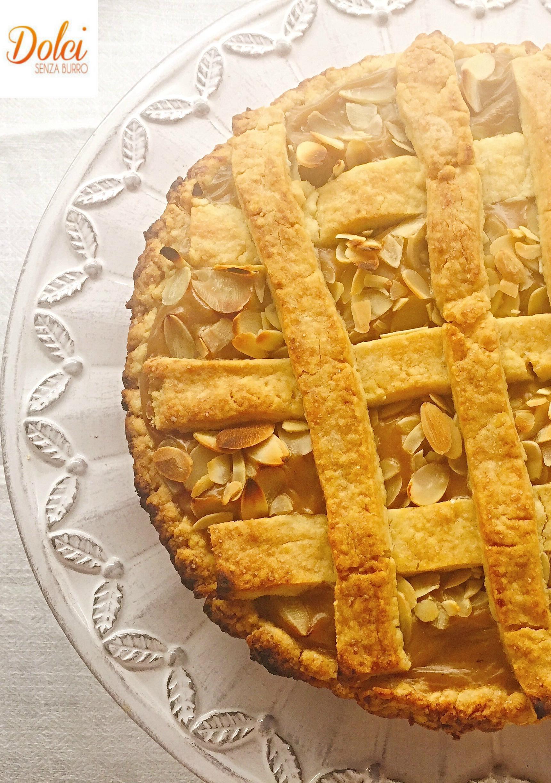 Crostata al Caffè Senza Burro, un dolce fresco cremoso ed avvolgente di dolci senza burro