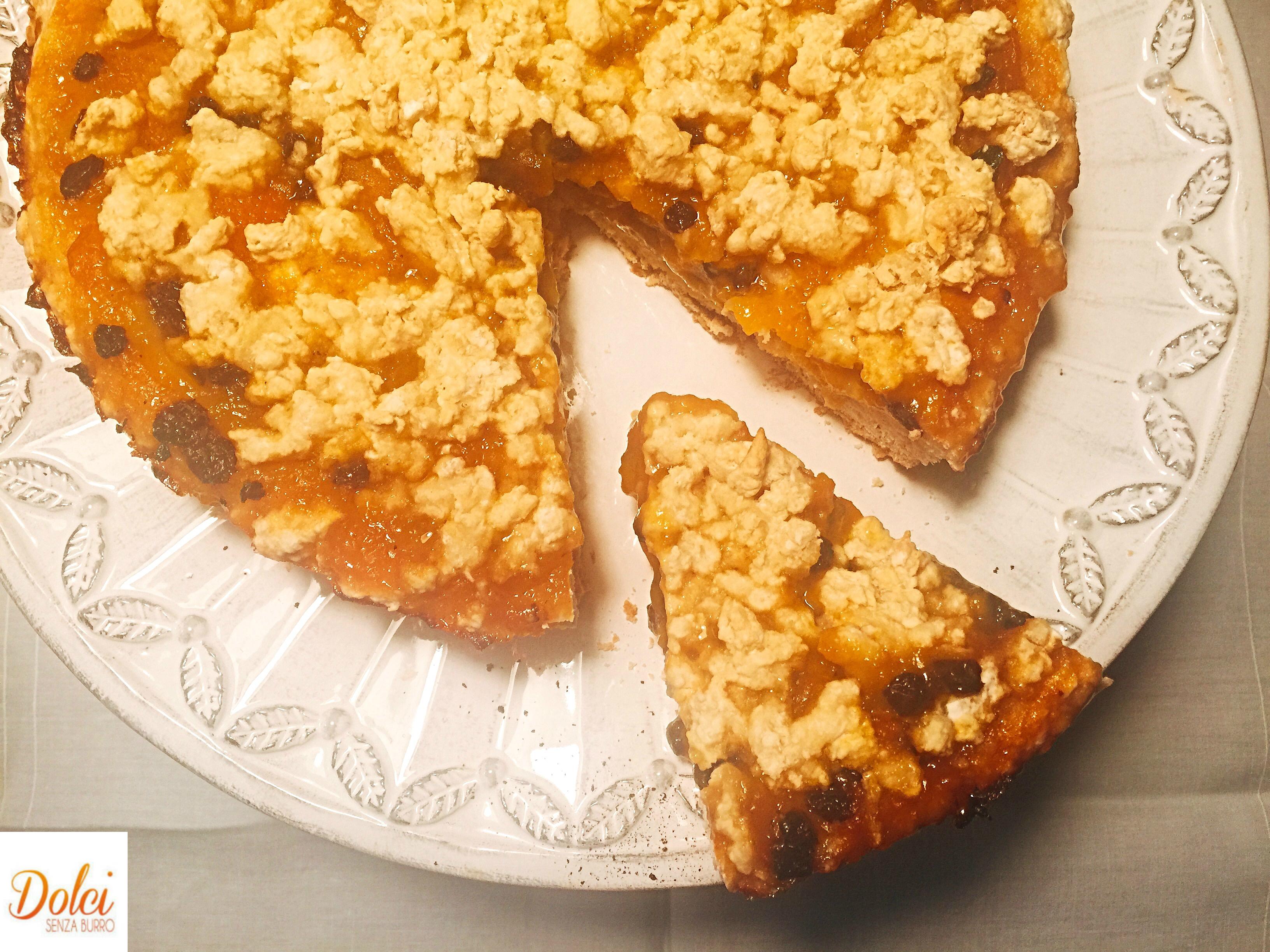 Crostata di Albicocche Senza Burro, un dolce goloso sano e genuino di dolci senza burro