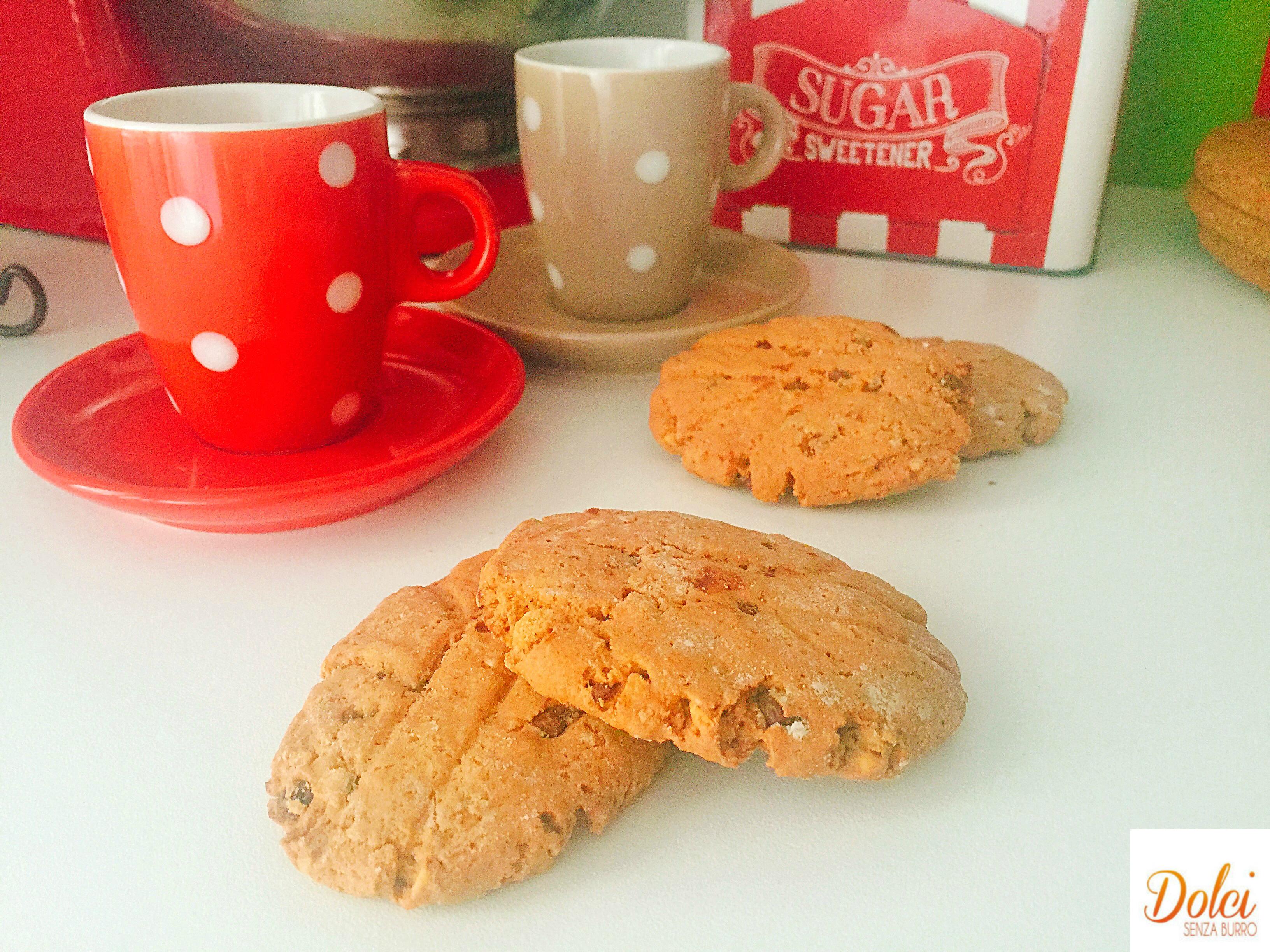 Biscotti Nocciole e Cioccolato Senza Burro, golosi e sfiziosi di dolci senza burro!
