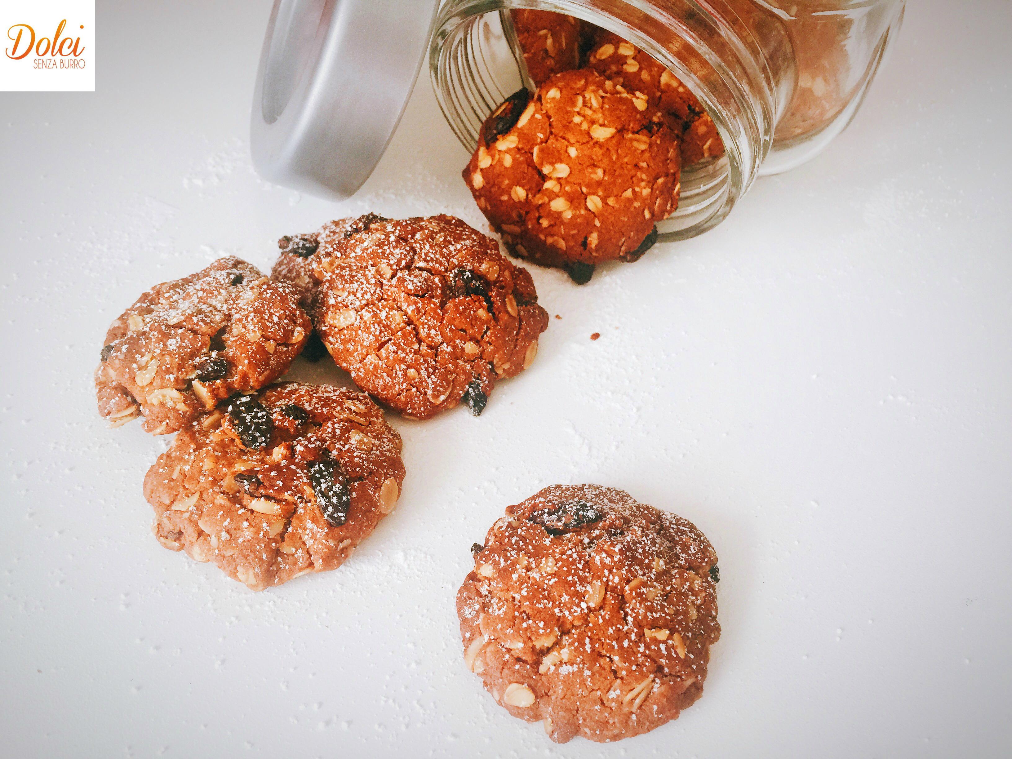 Biscotti all'Avena Senza Burro e Uova. leggeri sani e genuini di dolci senza burro