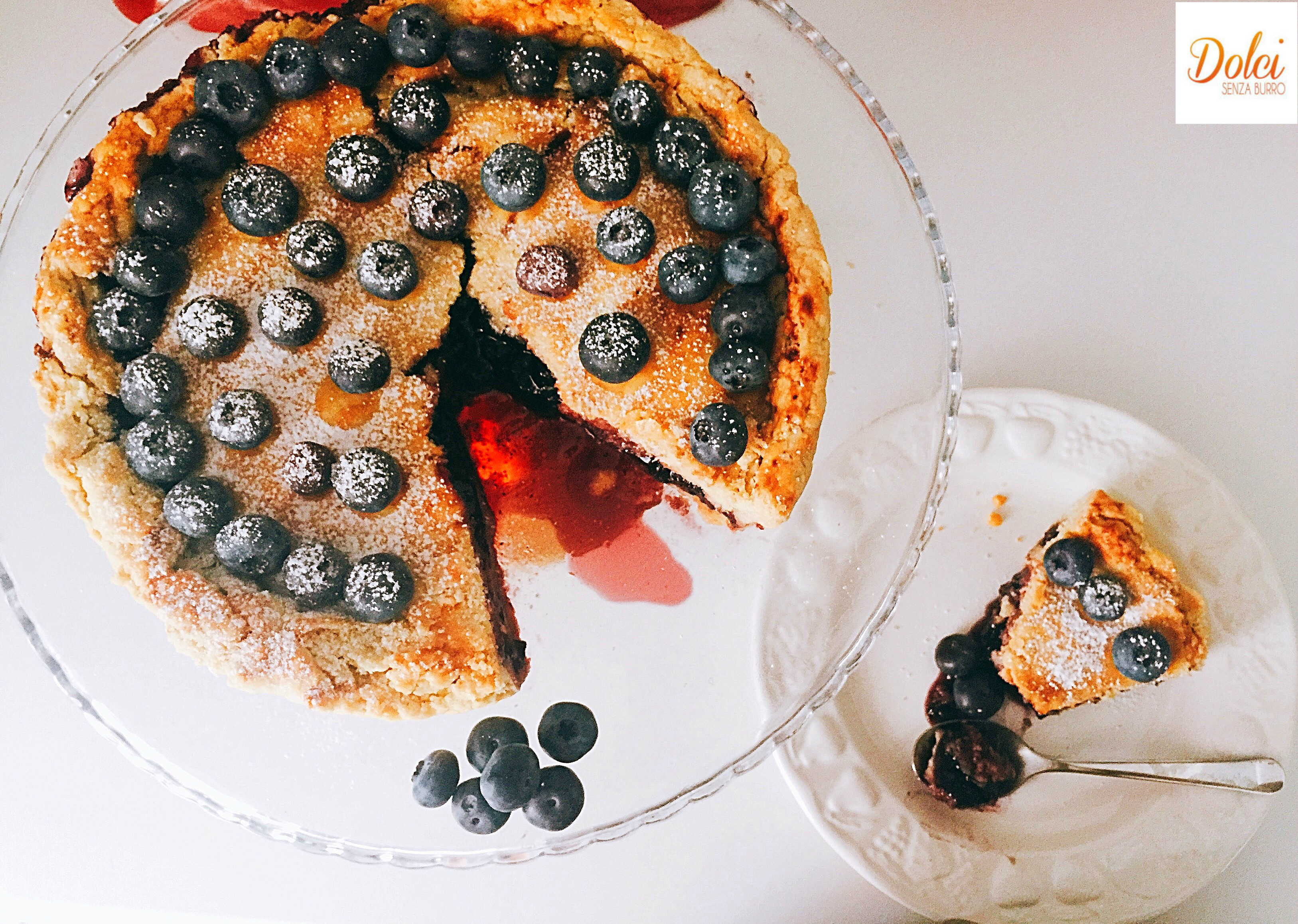 Pie di Mirtilli Senza Burro, la crostata di mirtilli americana (blueberry pie) super golosa di dolci senza burro
