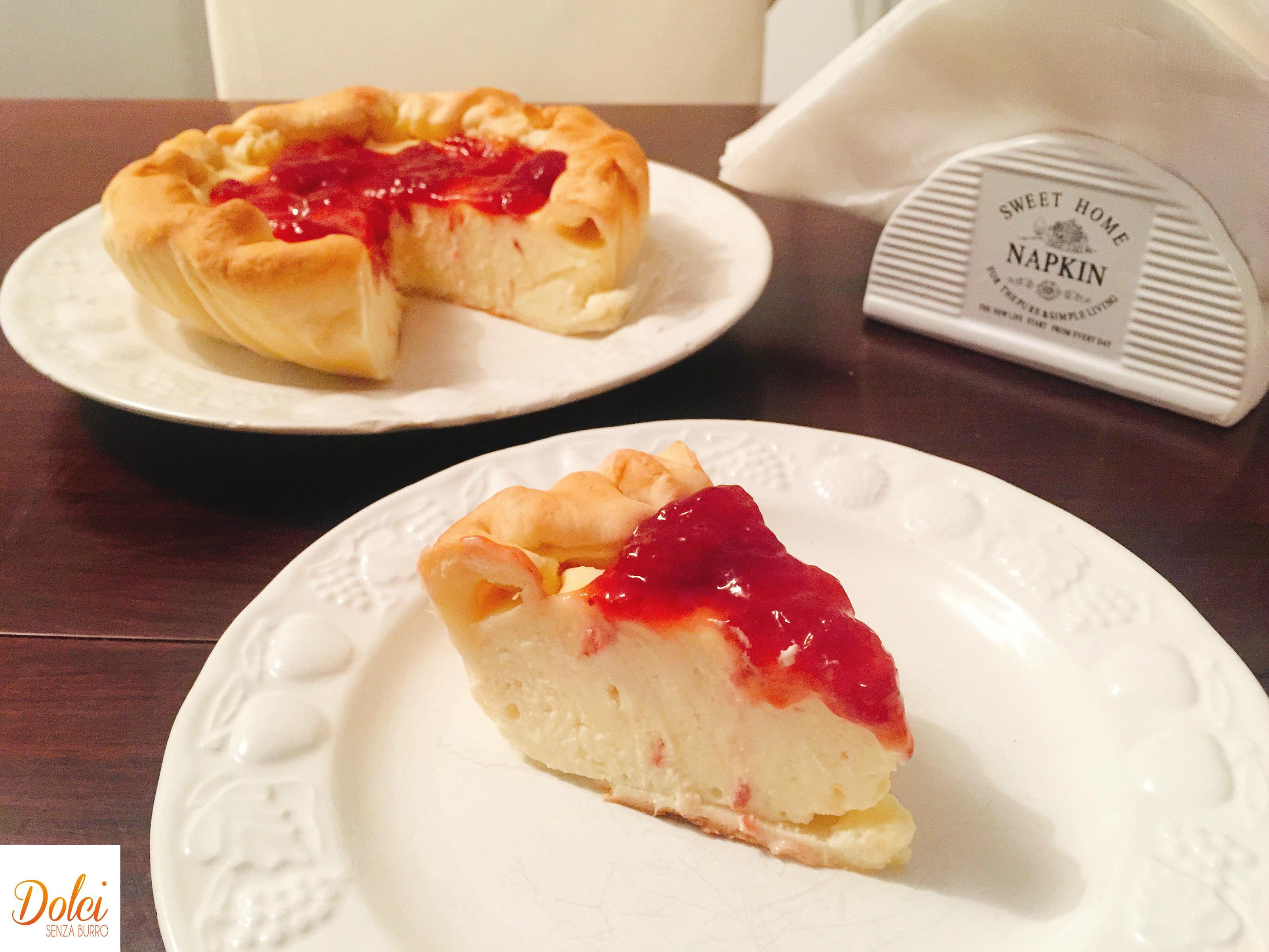 Torta Fredda alla Ricotta Senza Burro, un dolce dal gusto delicato fresco e avvolgente di dolci senza burro