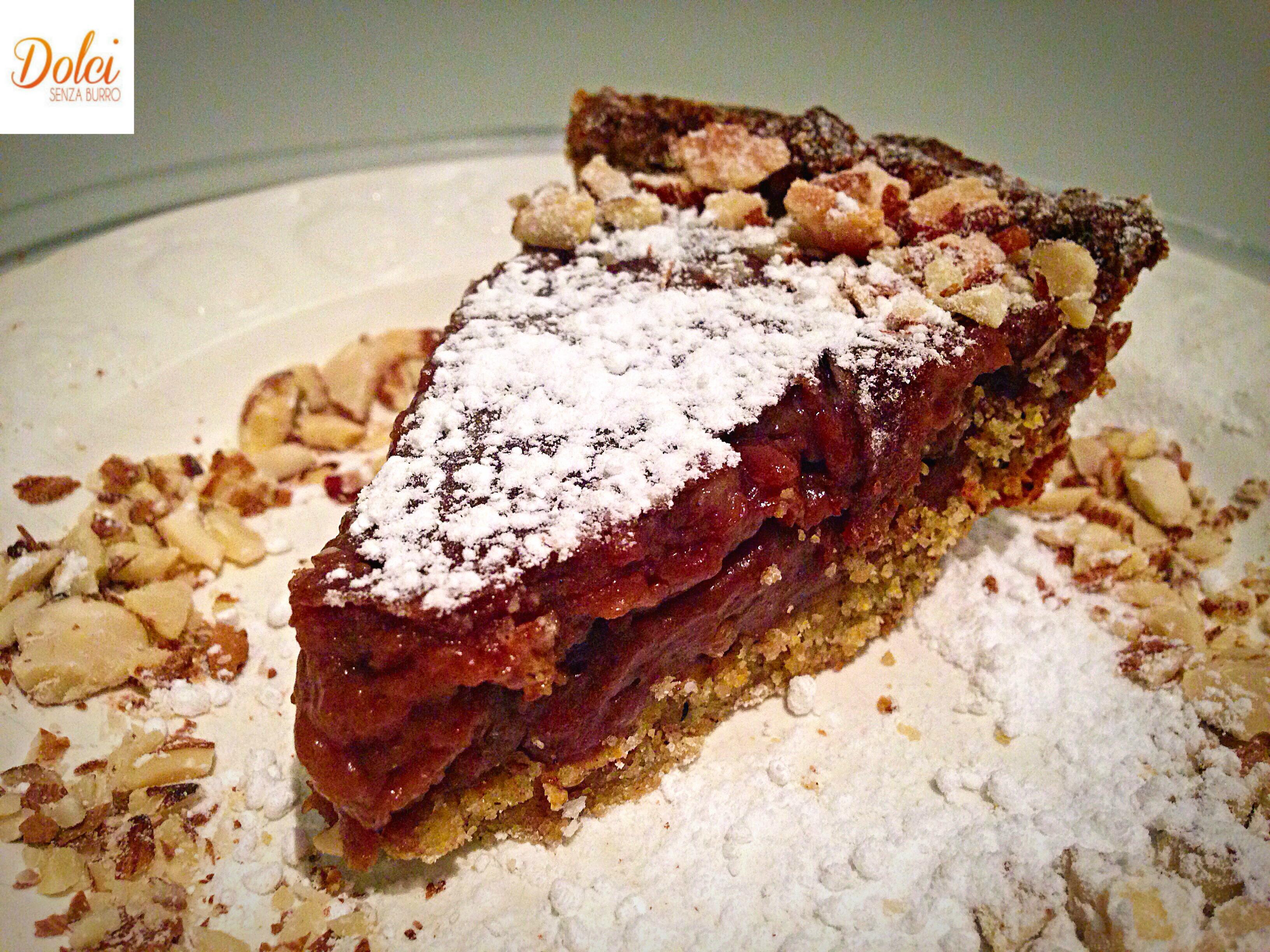 Crostata alla Crema di Carrube Senza Burro, un dolce goloso e originale di dolci senza burro