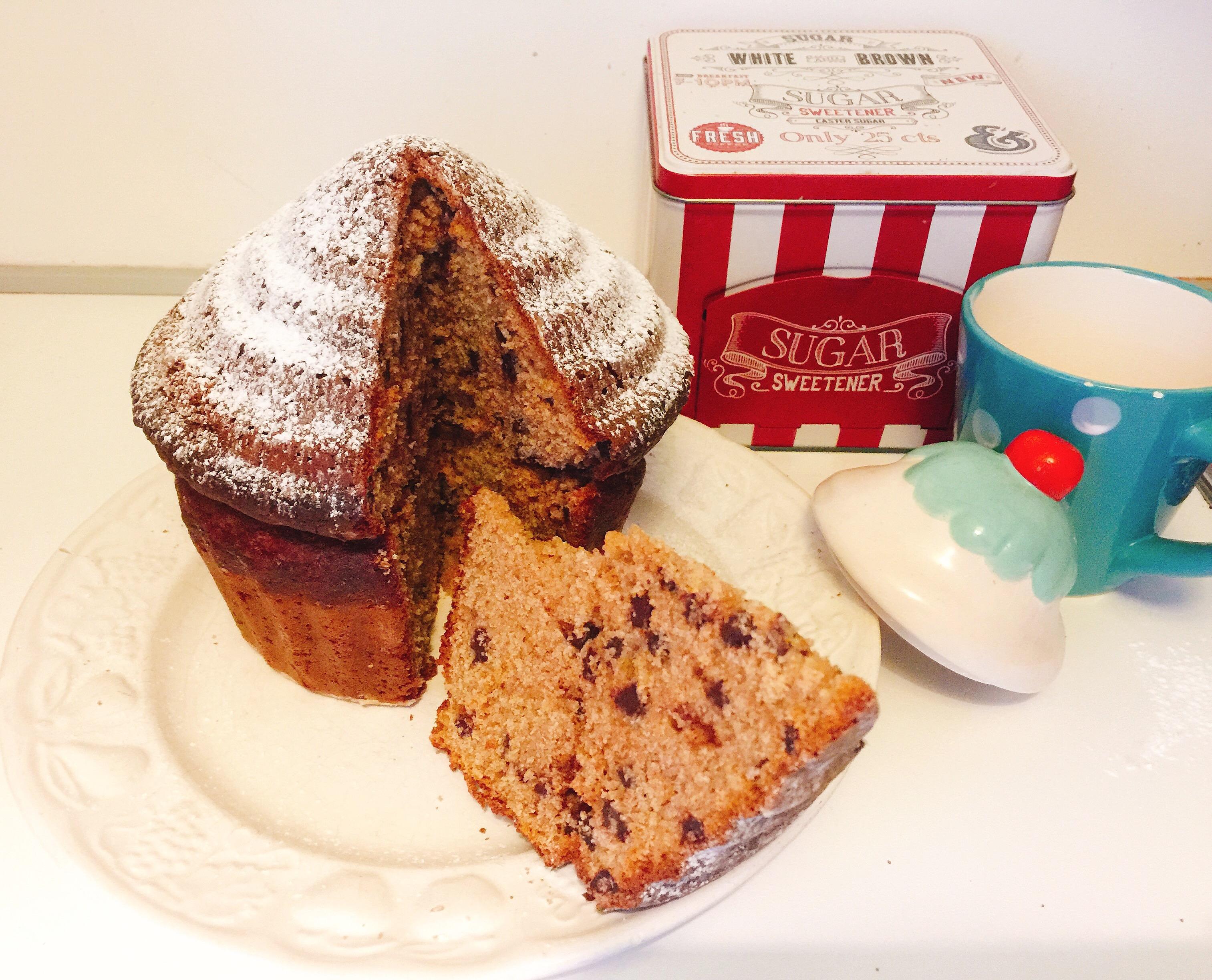 Muffin Gigante Senza Burro, una torta muffin super golosa di dolci senza burro