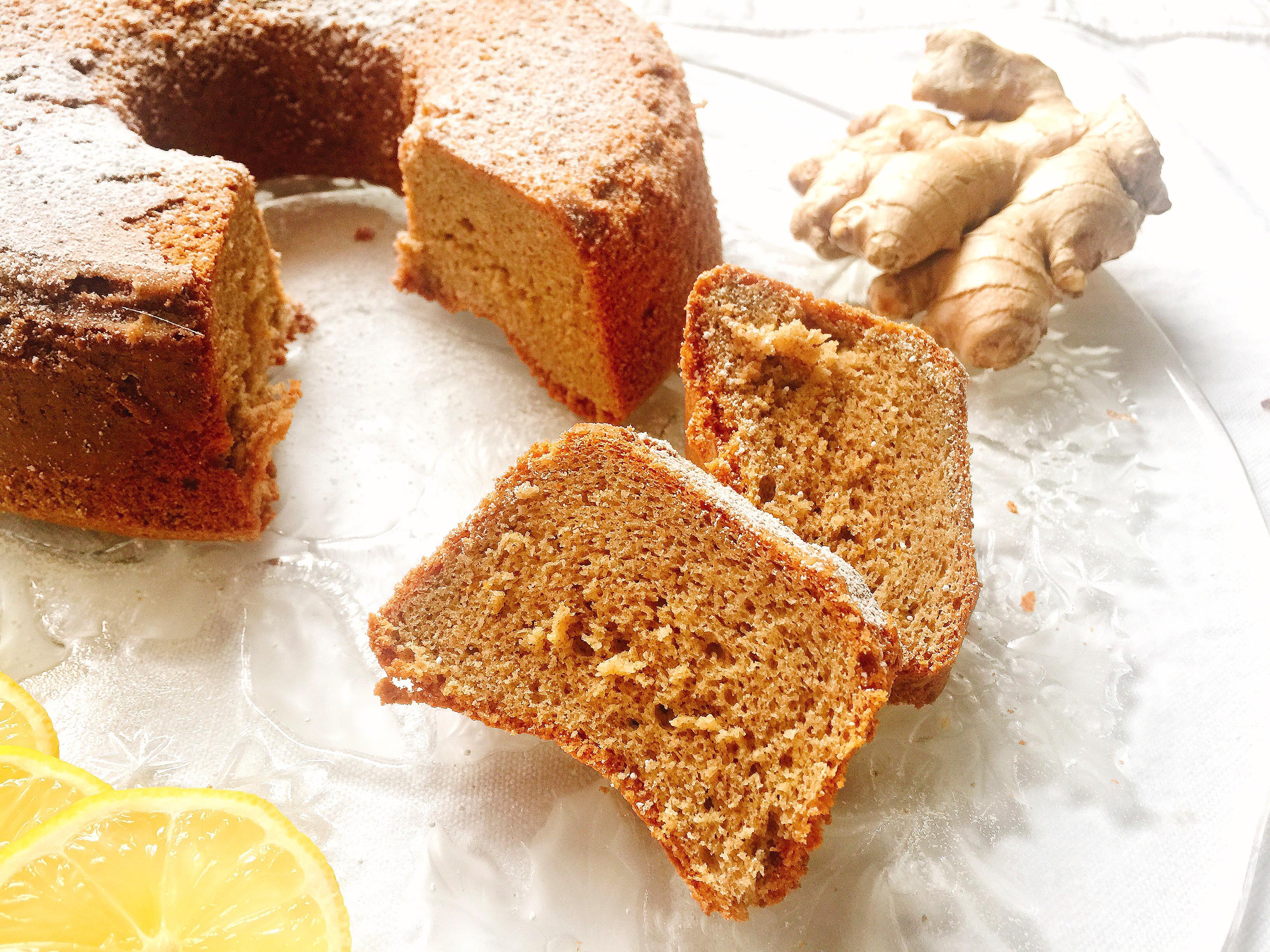Torta Zenzero e Limone Senza Burro, un dolce profumato dal gusto fresco dleicato e avvolgente di dolci senza burro