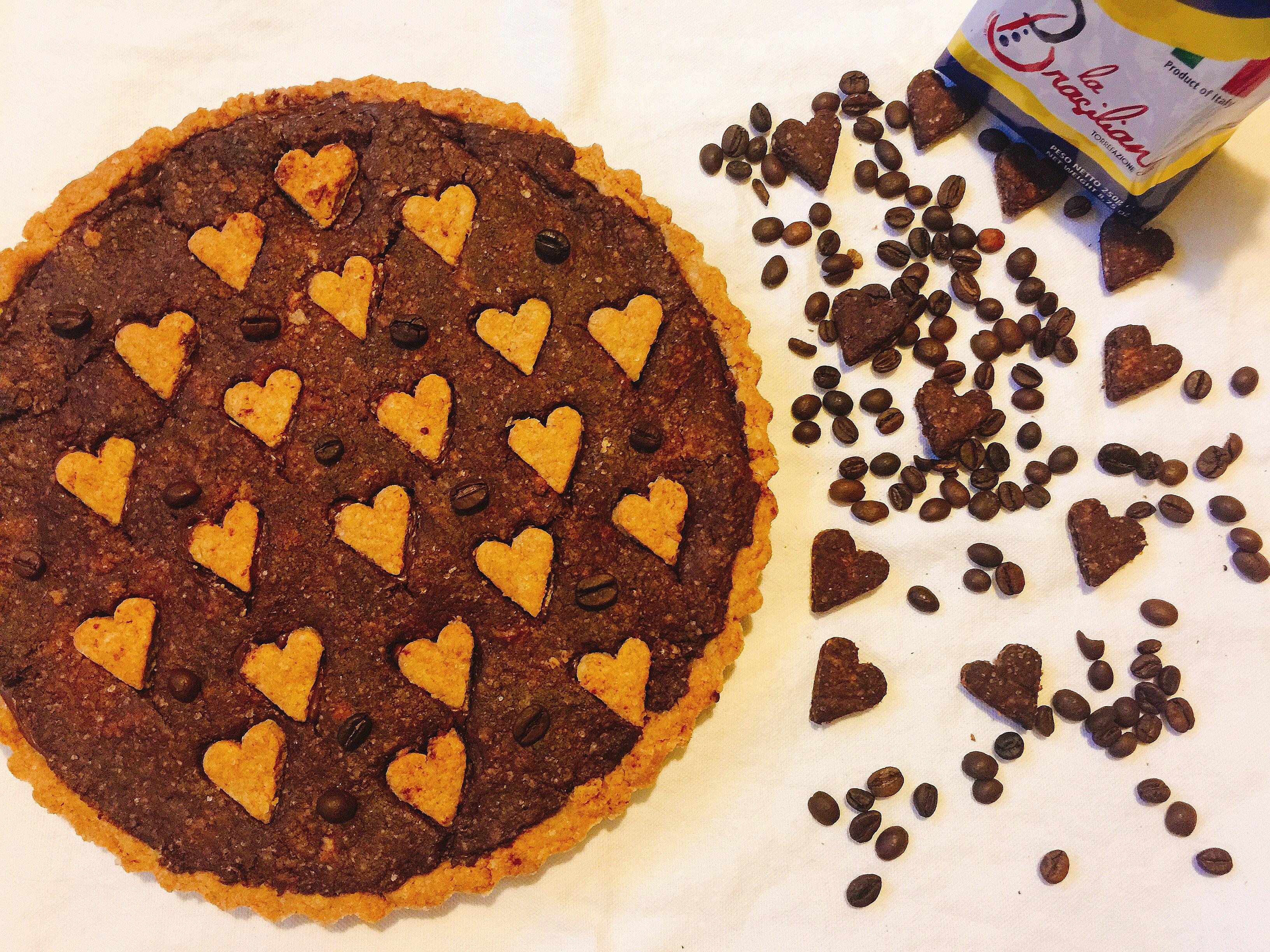 Crostata al Caffè e Cioccolato Senza Burro, un dolce goloso e irresistibile di dolci senza burro
