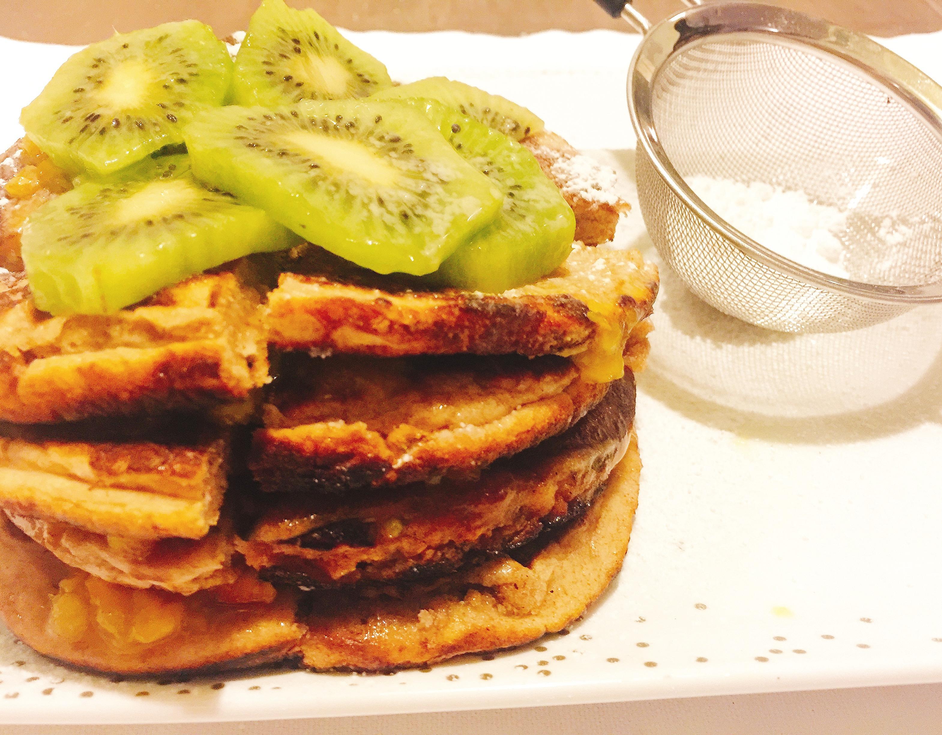 Pancake al farro senza burro e uova per restare in forma senza sensi di colpa con dolci senza burro!