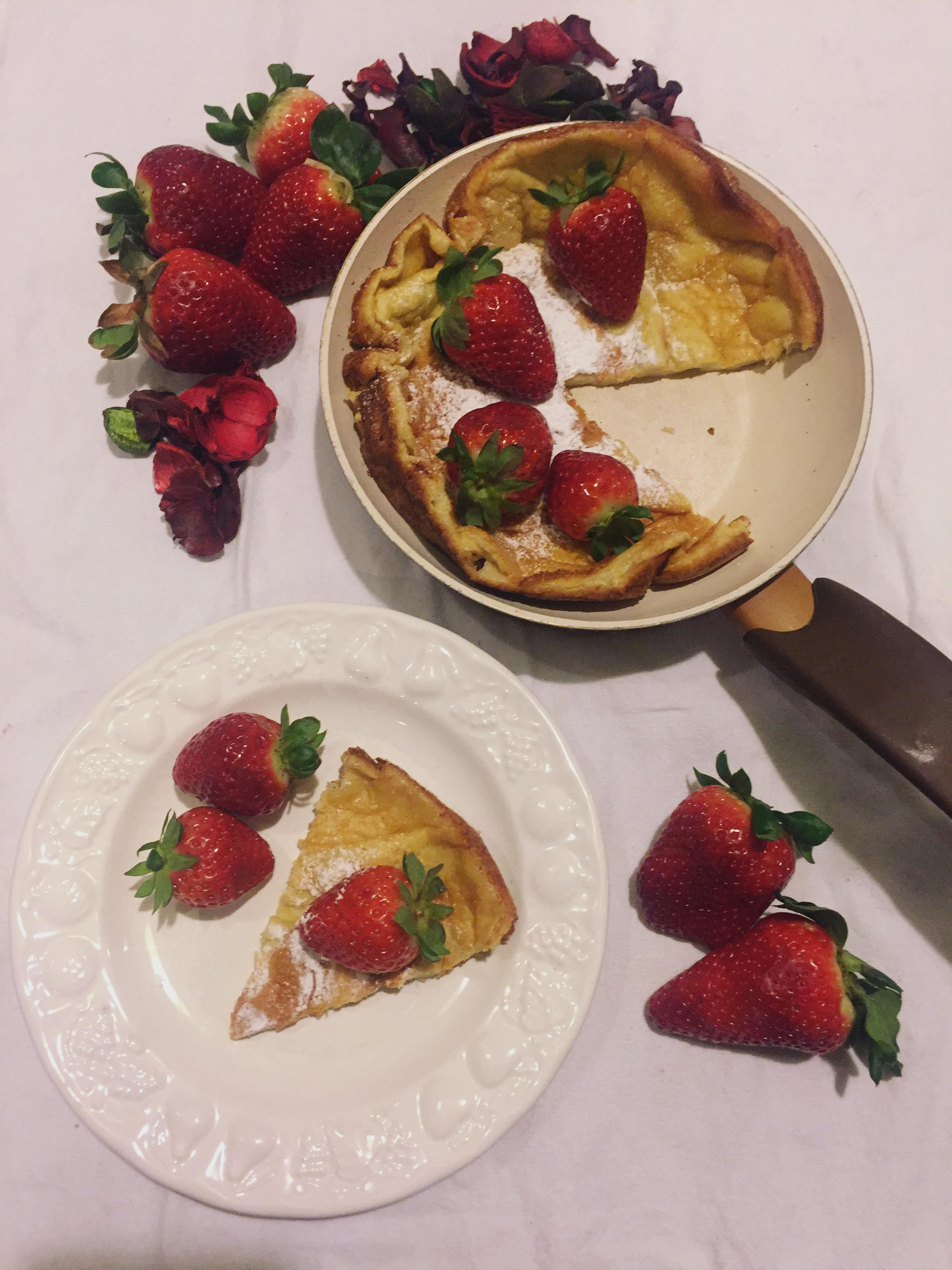 Dutch Baby Pancake, i pancake al forno leggeri e golosi di dolci senza burro