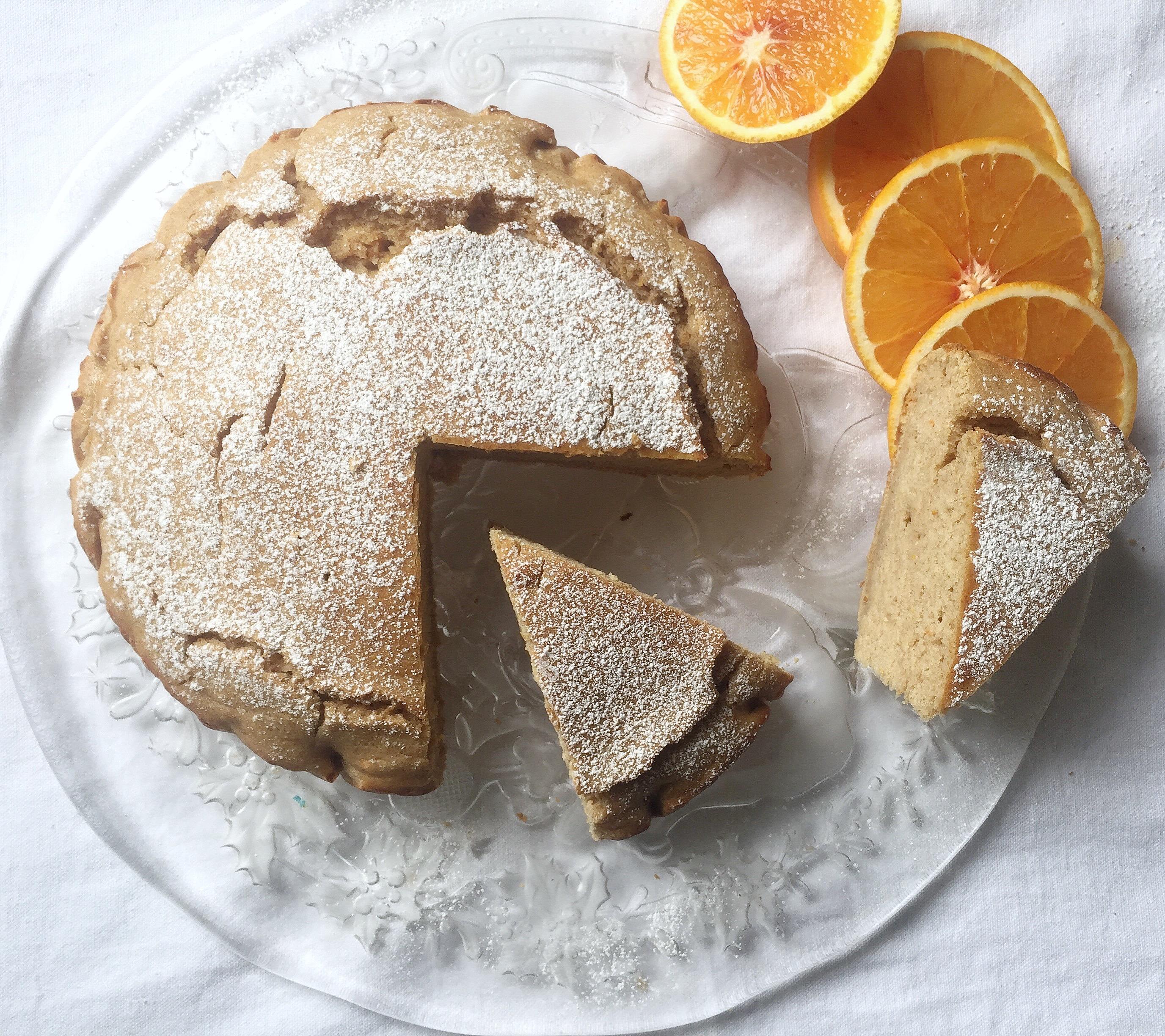 Torta Ricotta e Arancia Senza Uova e Burro, un dolce light e senza grassi di dolci senza burro