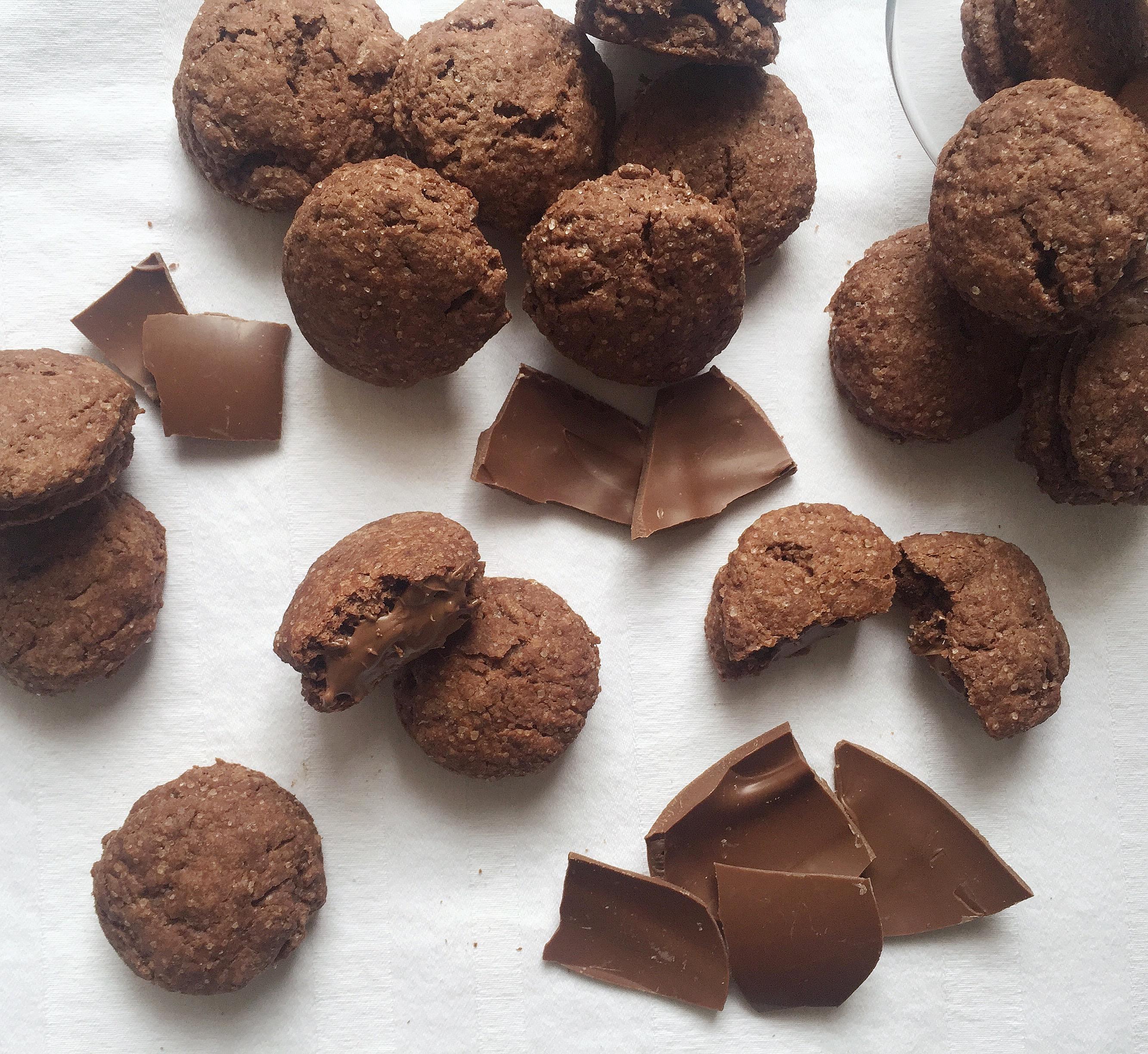 Grisbi Fatti in Casa, i famosi biscotti con il ripieno morbido al cioccolato di dolci senza burro
