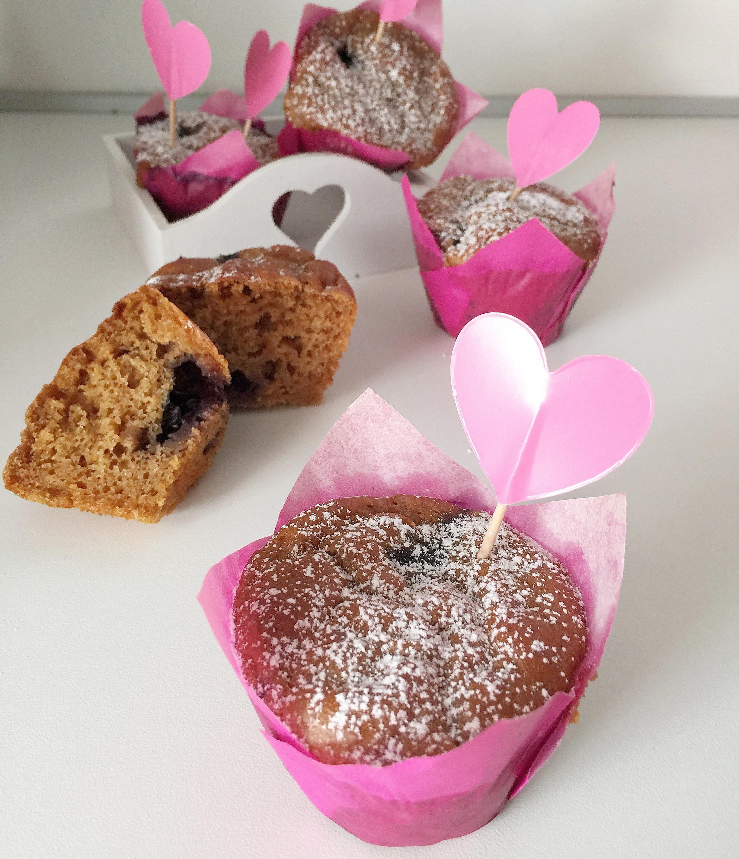 Muffin ai Mirtilli Vegani, dei golosi e leggeri muffin senza burro e uova !
