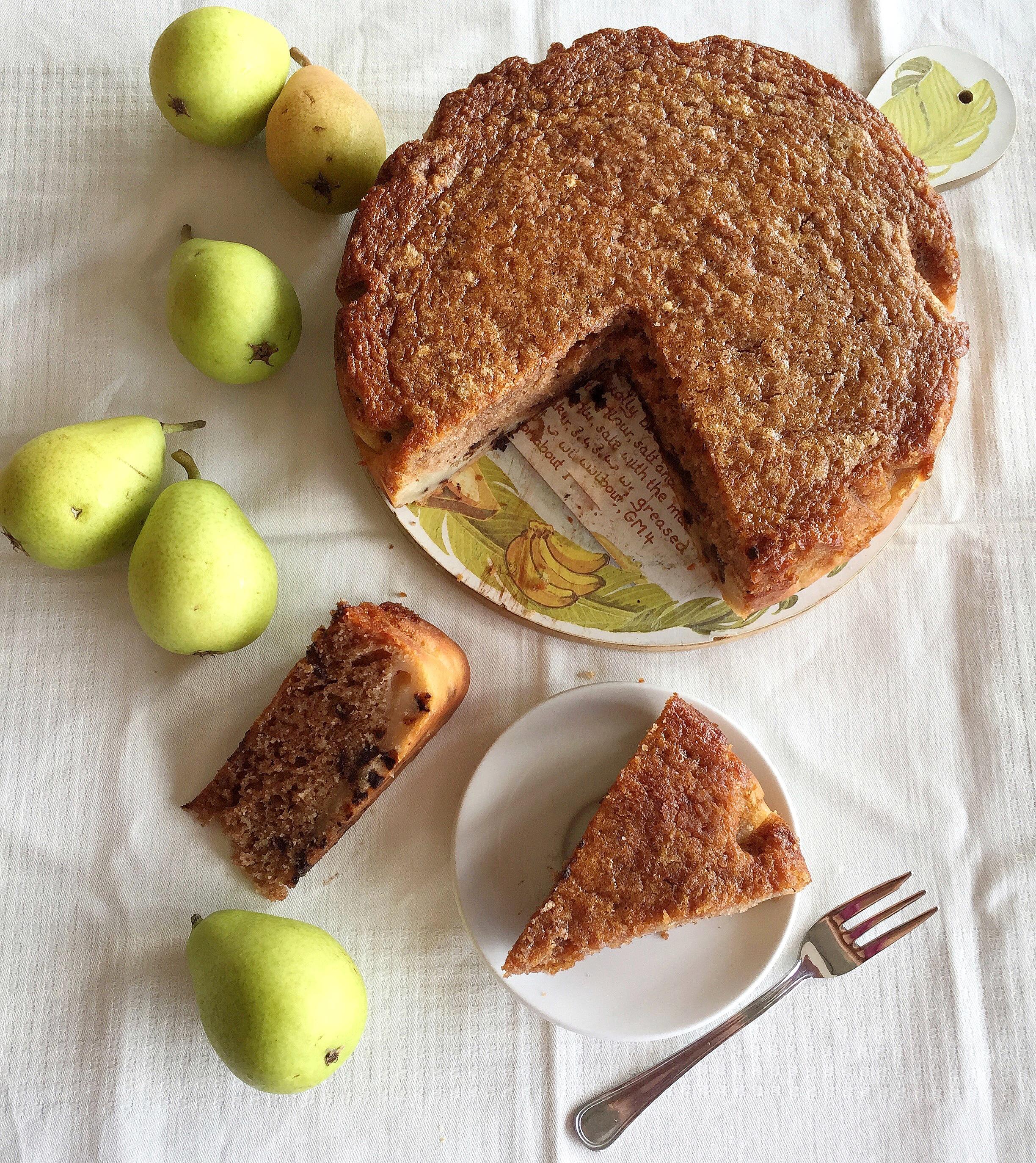 Torta di Pere Coscia Senza Burro, golosa soffice e leggera di dolci senza burro