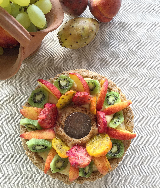 Crostata di Frutta con Crema al Limone Senza Burro, super goloso e fresco di dolci senza burro
