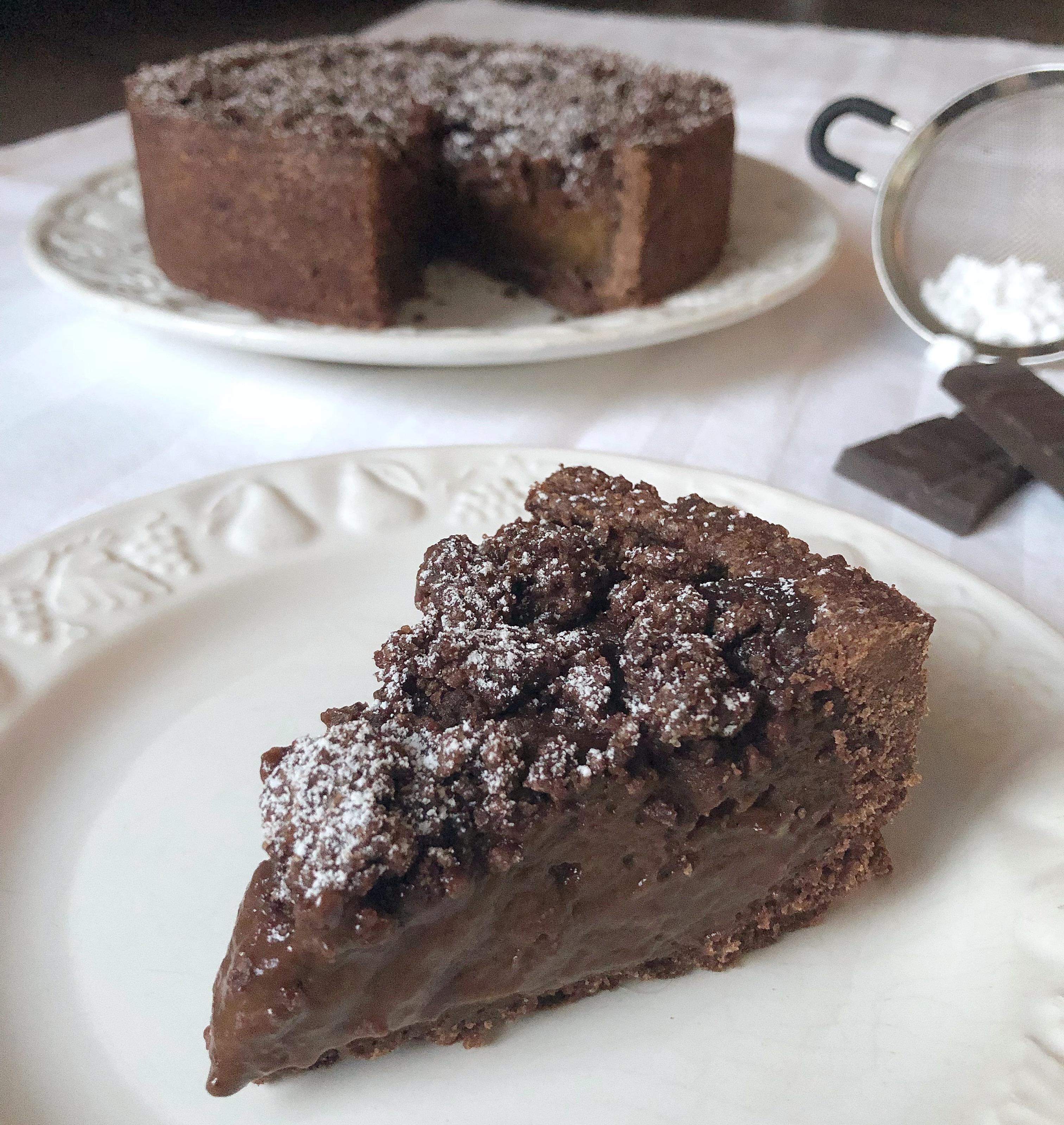 Sbriciolata Senza Burro al Cioccolato, un dolce friabile ecremoso irresistibile di dolci senza burro
