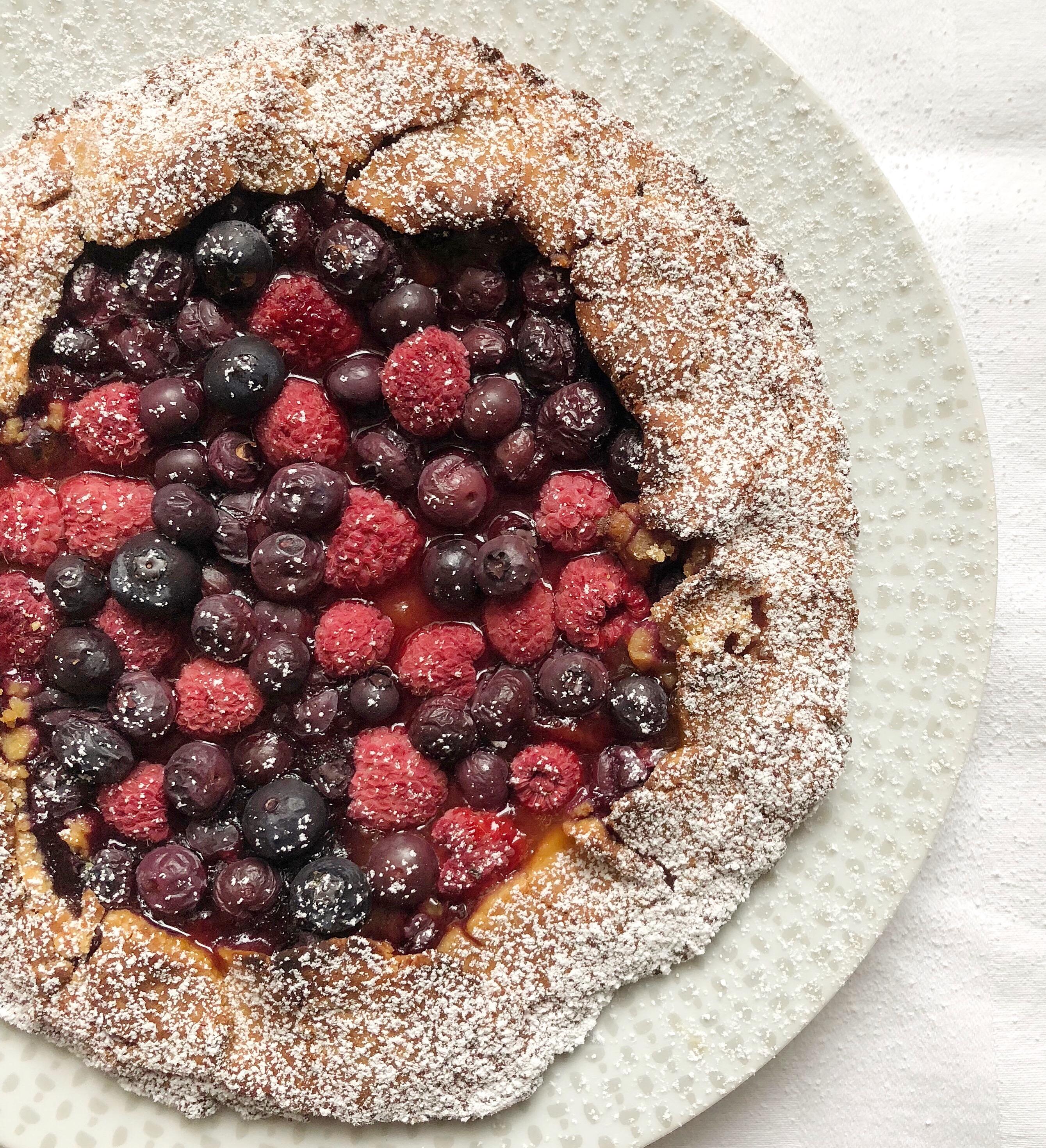 La Galette ai Frutti di Bosco Senza Burro, un dolce light e super goloso di dolci senza burro