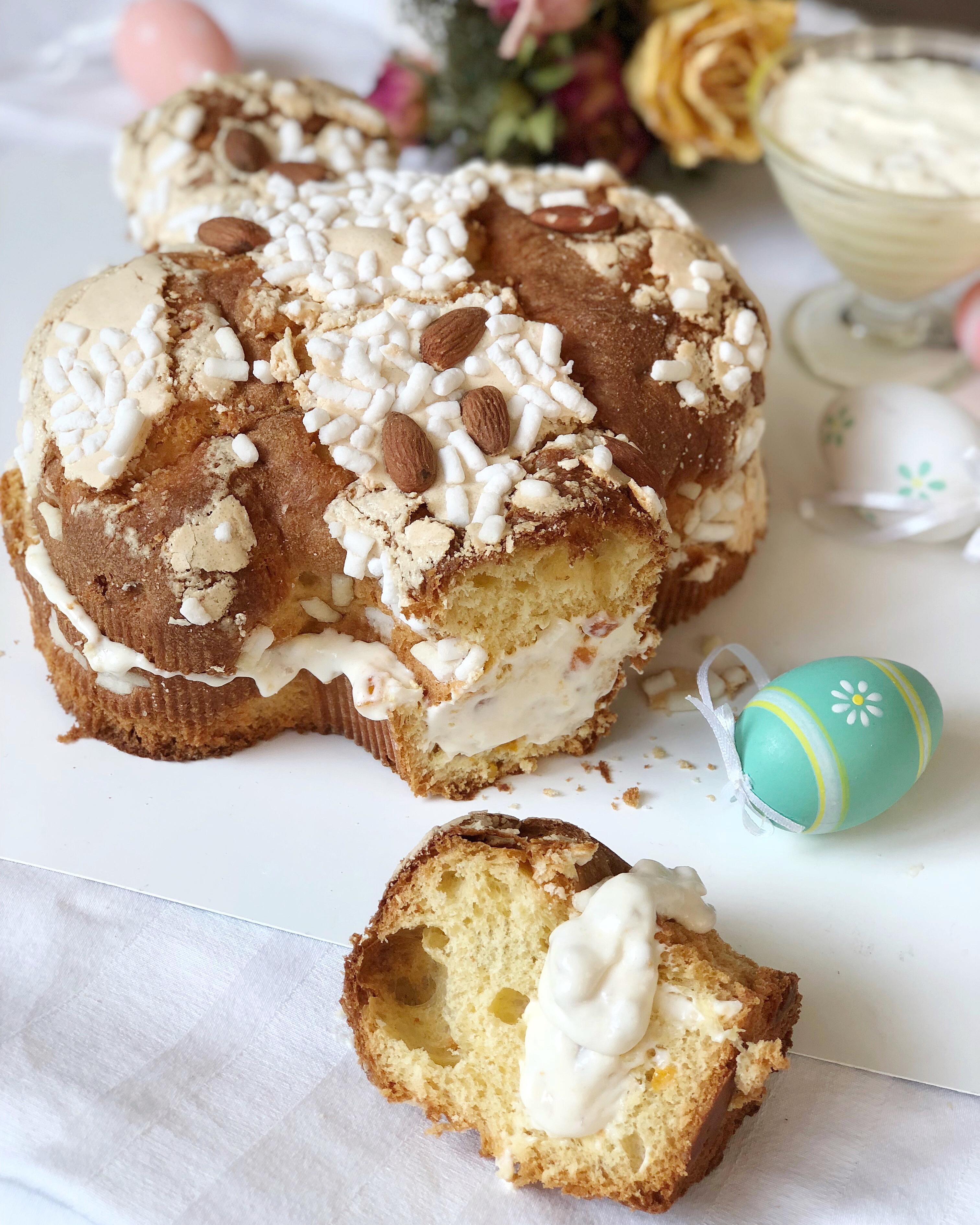 Colomba Farcita Con Mousse di Pastiera, il dolce per Pasqua di dolci senza burro
