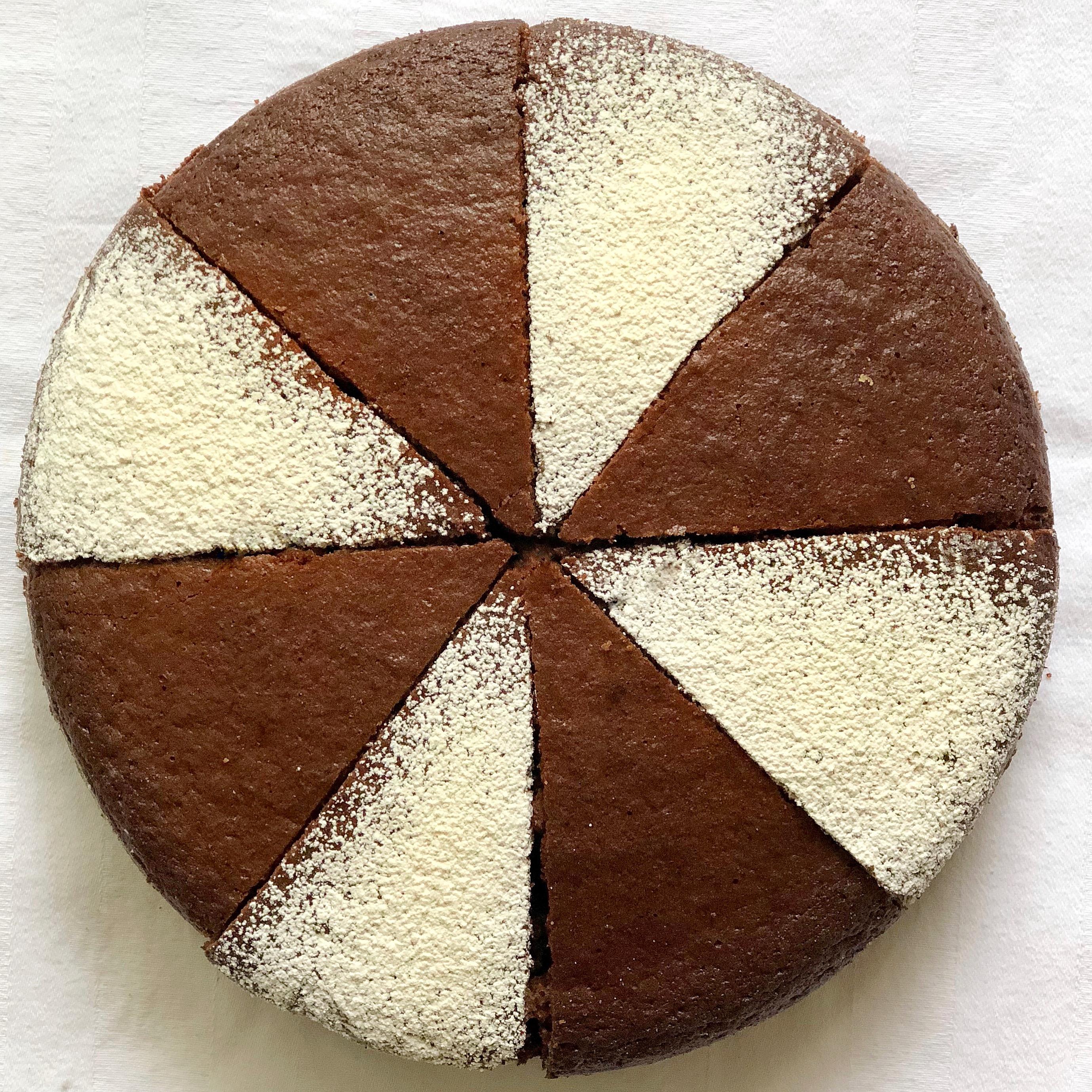 Torta 12 Cucchiai al Cioccolato la ricetta facile e veloce senza bilancia di dolci senza burro