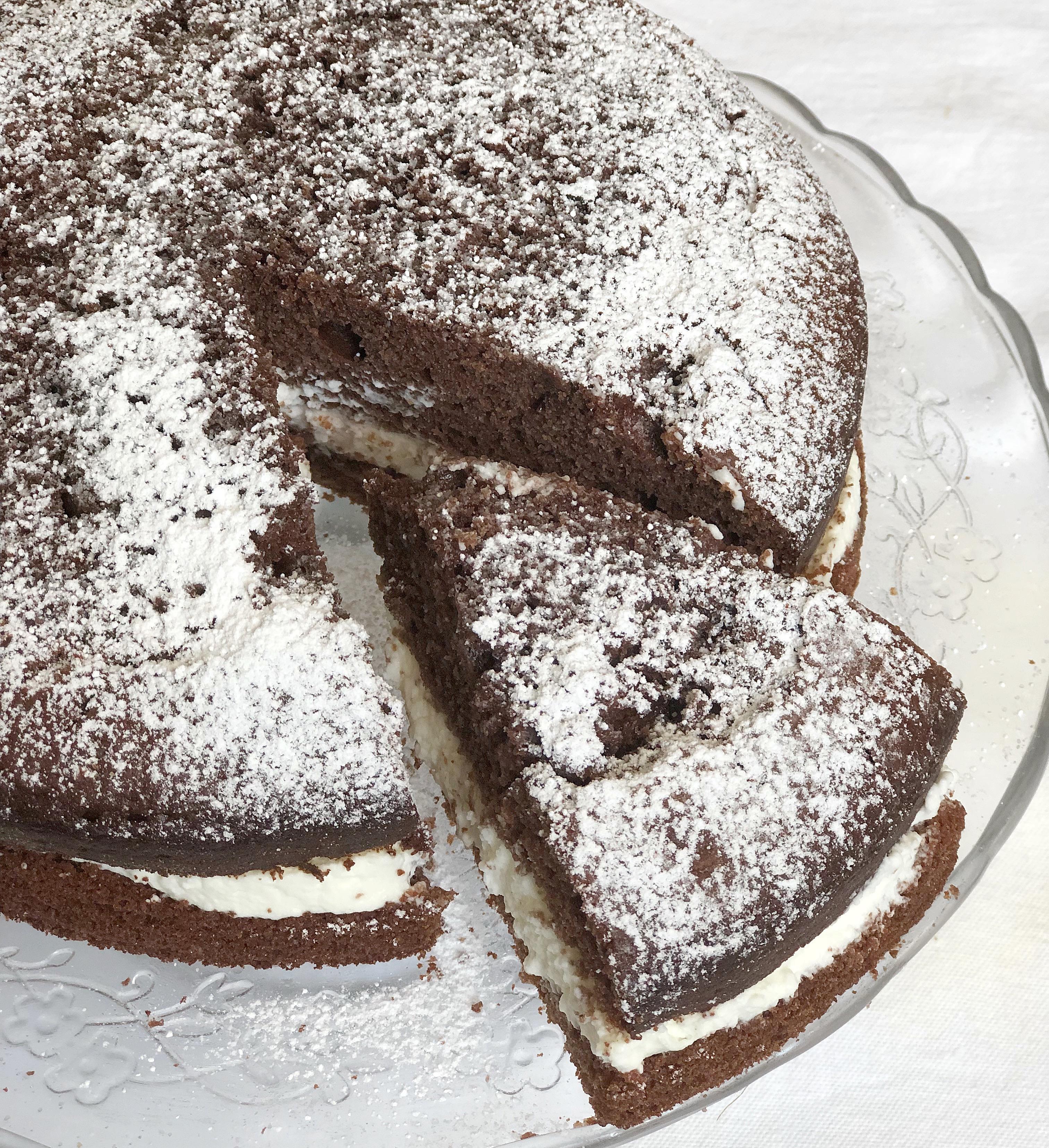 Torta Paradiso al Cioccolato Senza Burro super golosa di dolci senza burro